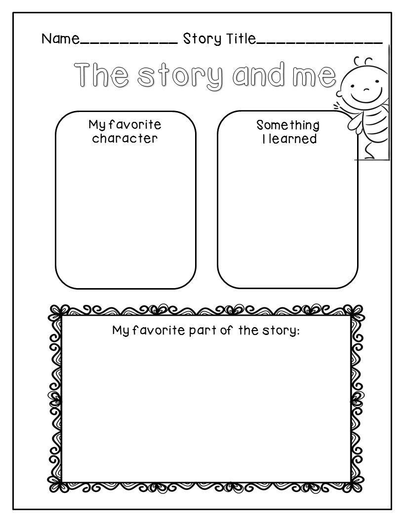 Story Elements Worksheets 2nd Grade Freebie Story Elements & Reading Response Page