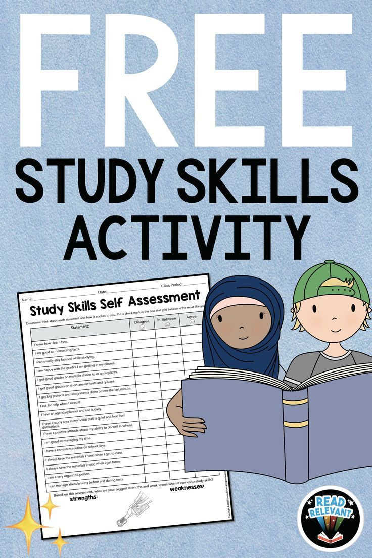 Study Skills Worksheets Middle School Free Study Skills Activity Self assessment Worksheet In