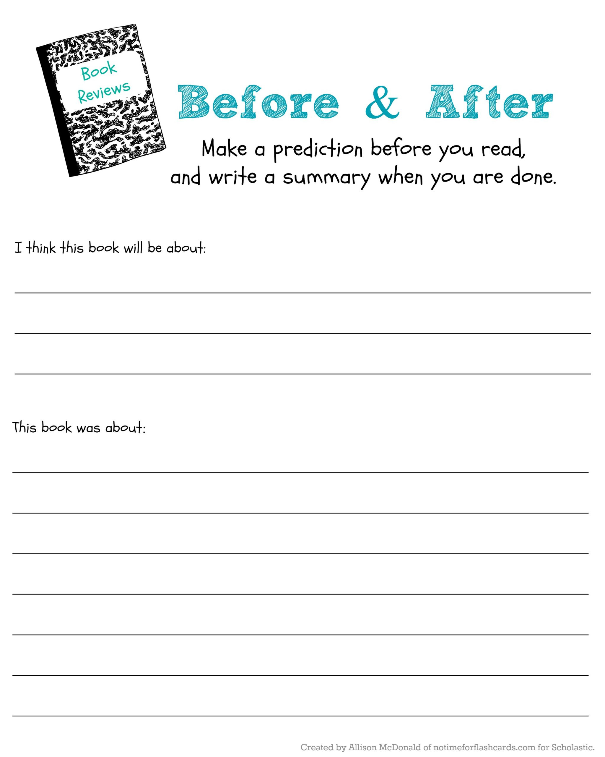 Summary Worksheets 5th Grade Judge Book by Its Cover to Predict Read Scholastic Parents