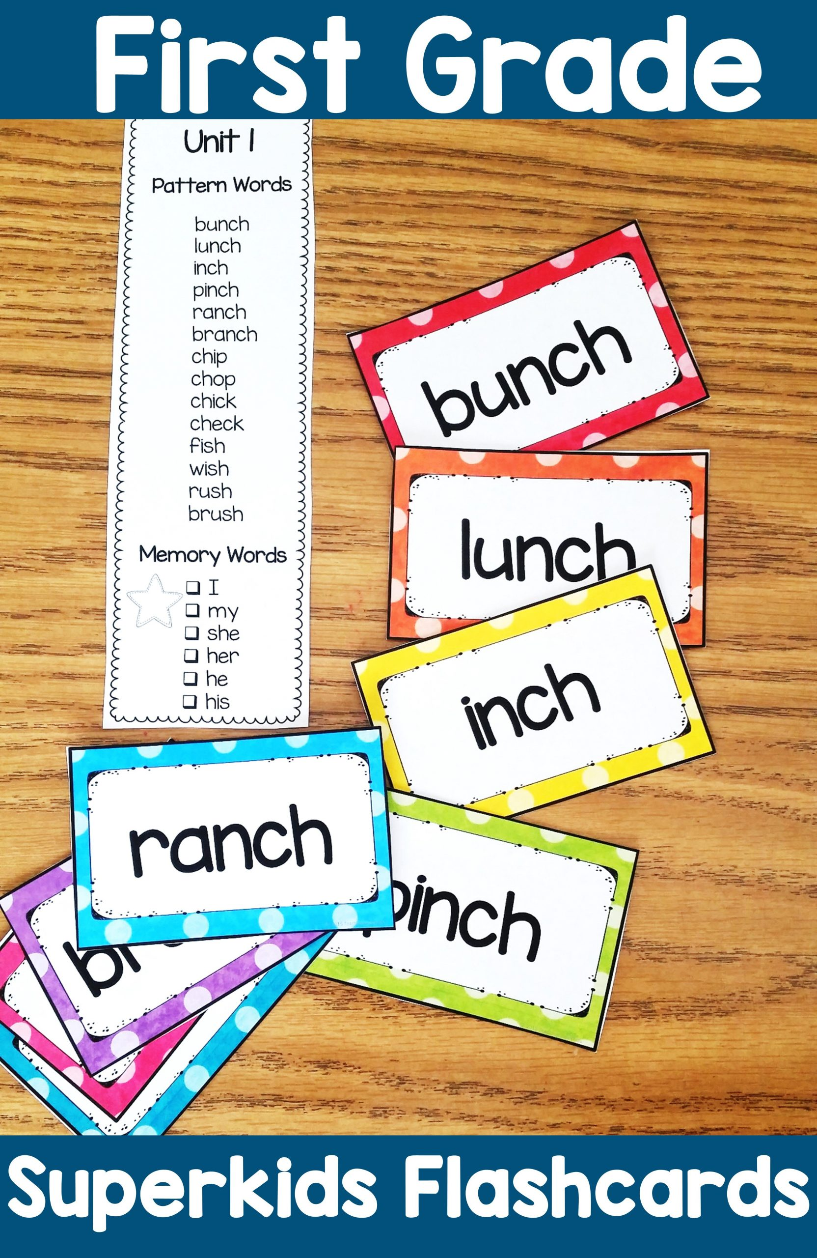 Superkids Reading Program Worksheets First Grade Superkids Flash Cards & Word List
