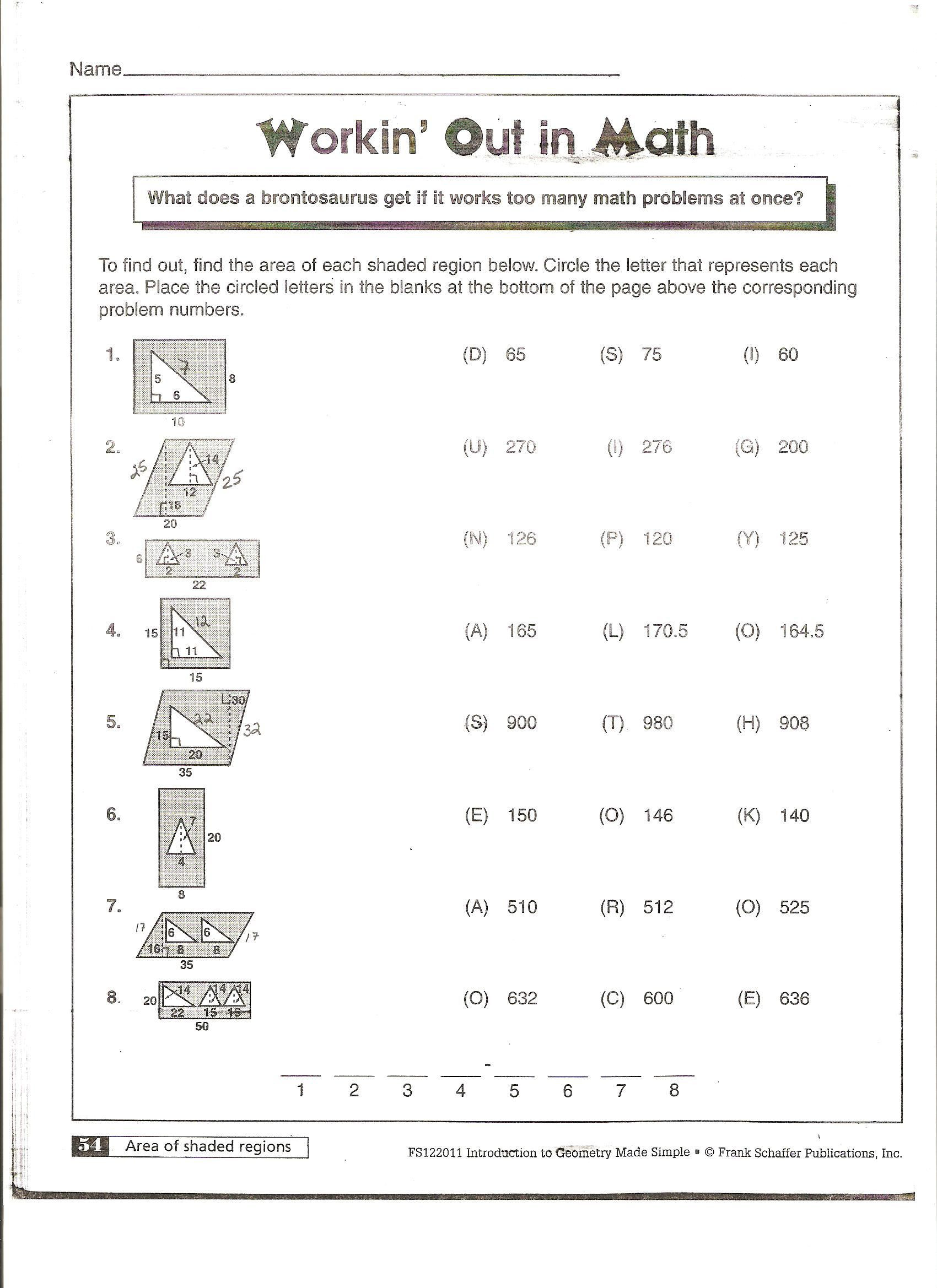 Surface area Worksheet 7th Grade area Of Polygons Worksheets Free
