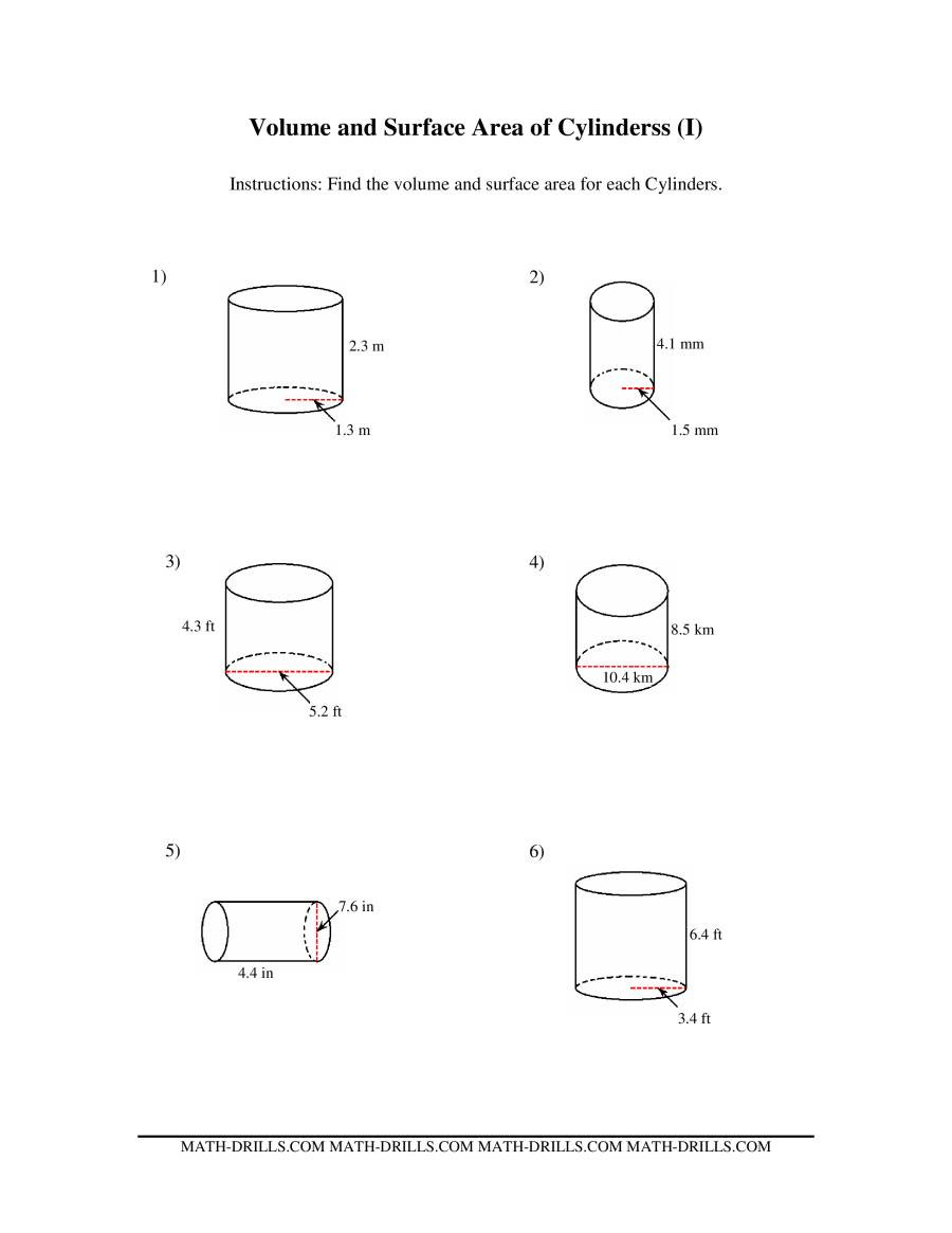 Surface area Worksheet 7th Grade Surface area and Volume Worksheet Laveyla