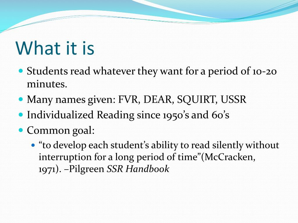 Sustained Silent Reading Worksheet Ppt Sustained Silent Reading Ssr Powerpoint Presentation