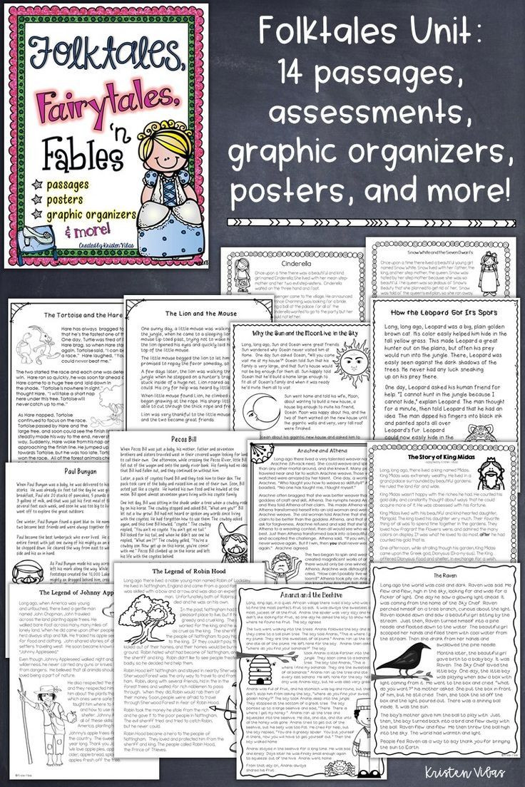 Tall Tale Reading Comprehension Worksheets Folktales Fairytales and Fables
