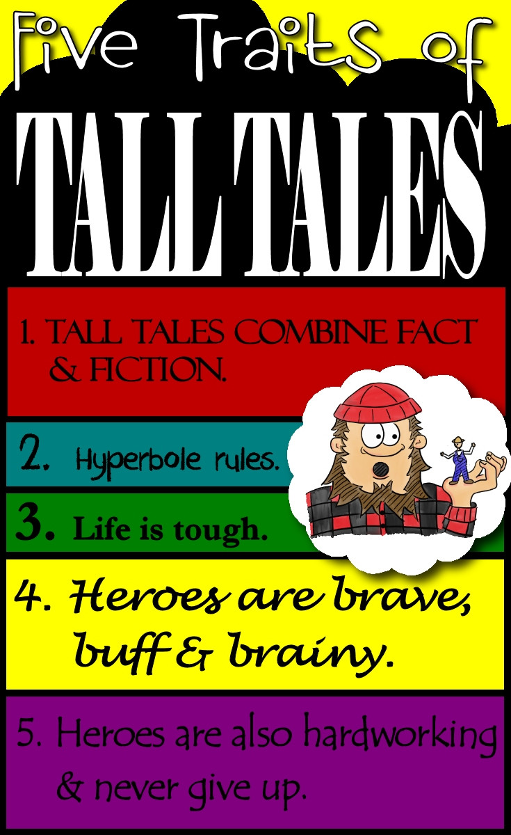 Tall Tale Reading Comprehension Worksheets How to Write Tall Tales Five Traits Of Tall Tales Teaching