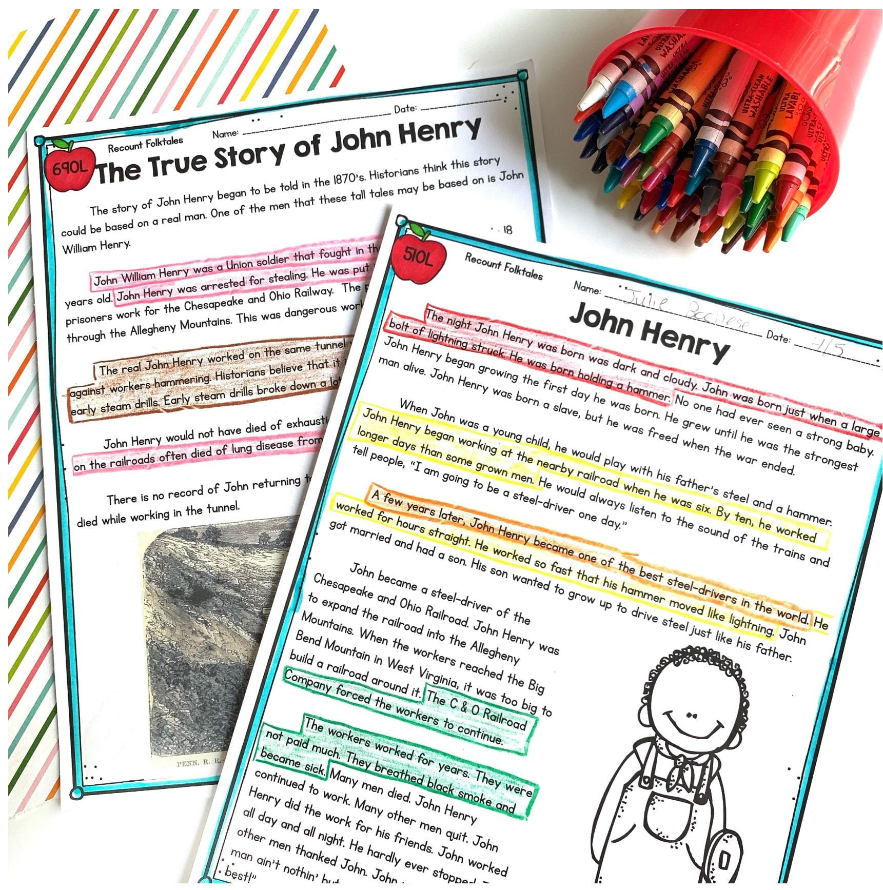 Tall Tale Reading Comprehension Worksheets Recount Stories Tall Tales – 2nd Grade Rl 2 2 & 3rd Grade Rl 3 2