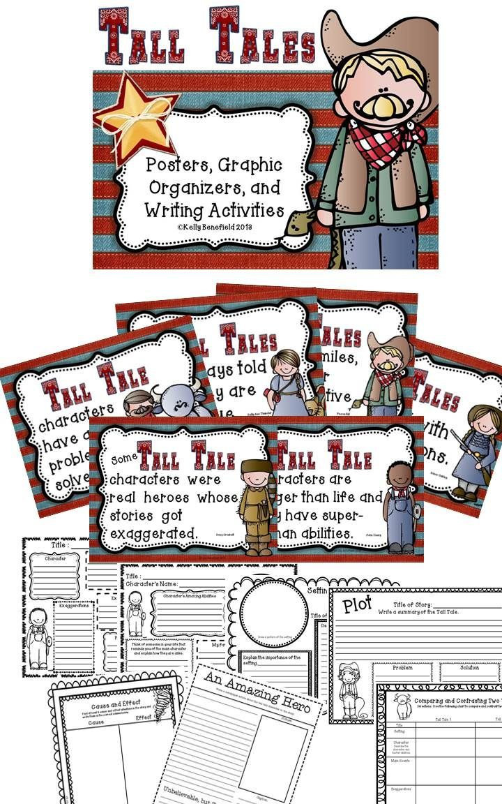 Tall Tale Reading Comprehension Worksheets Tall Tales Activities for Grades 3 6