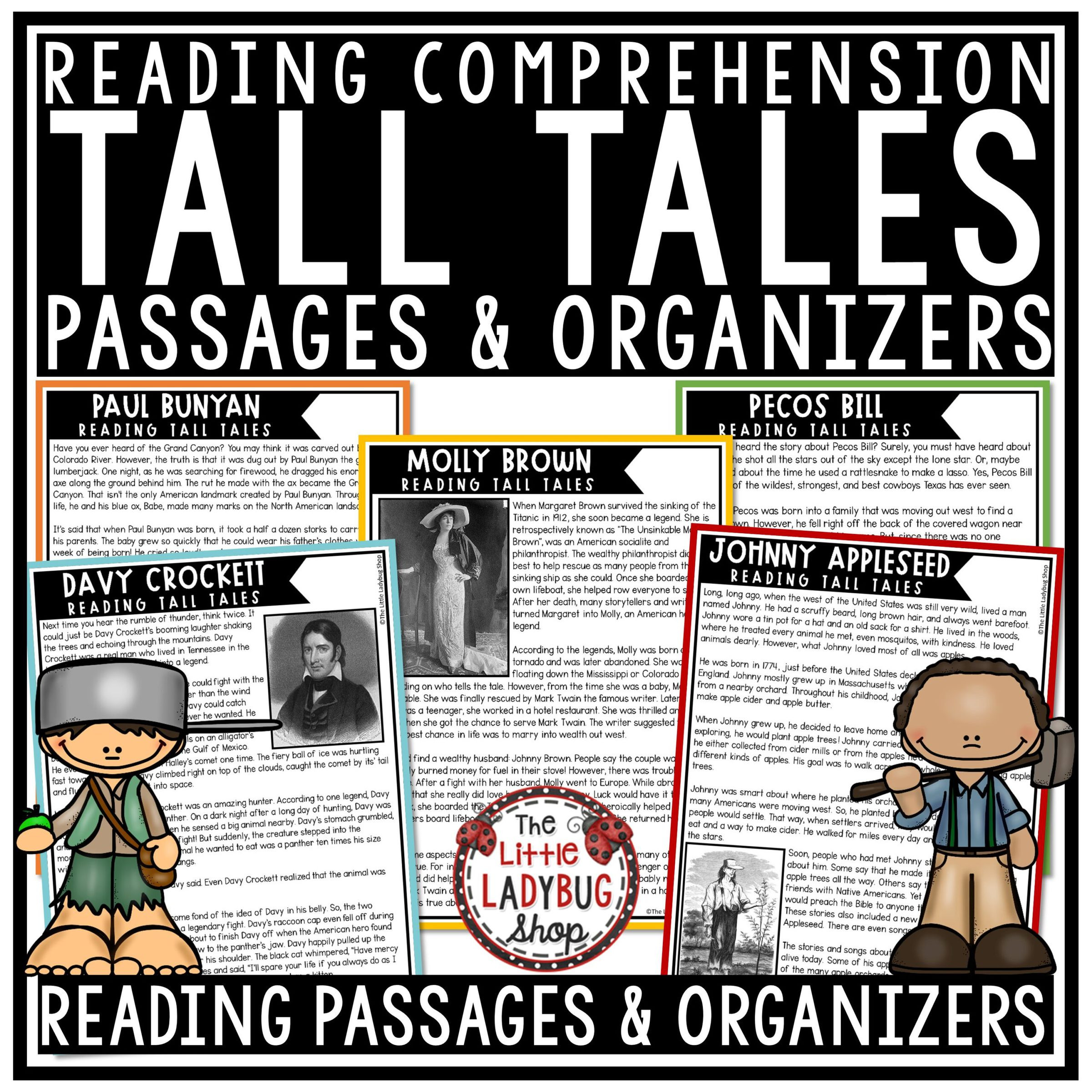Tall Tale Reading Comprehension Worksheets Tall Tales Reading Prehension Passages & Questions 3rd & 4th Grade