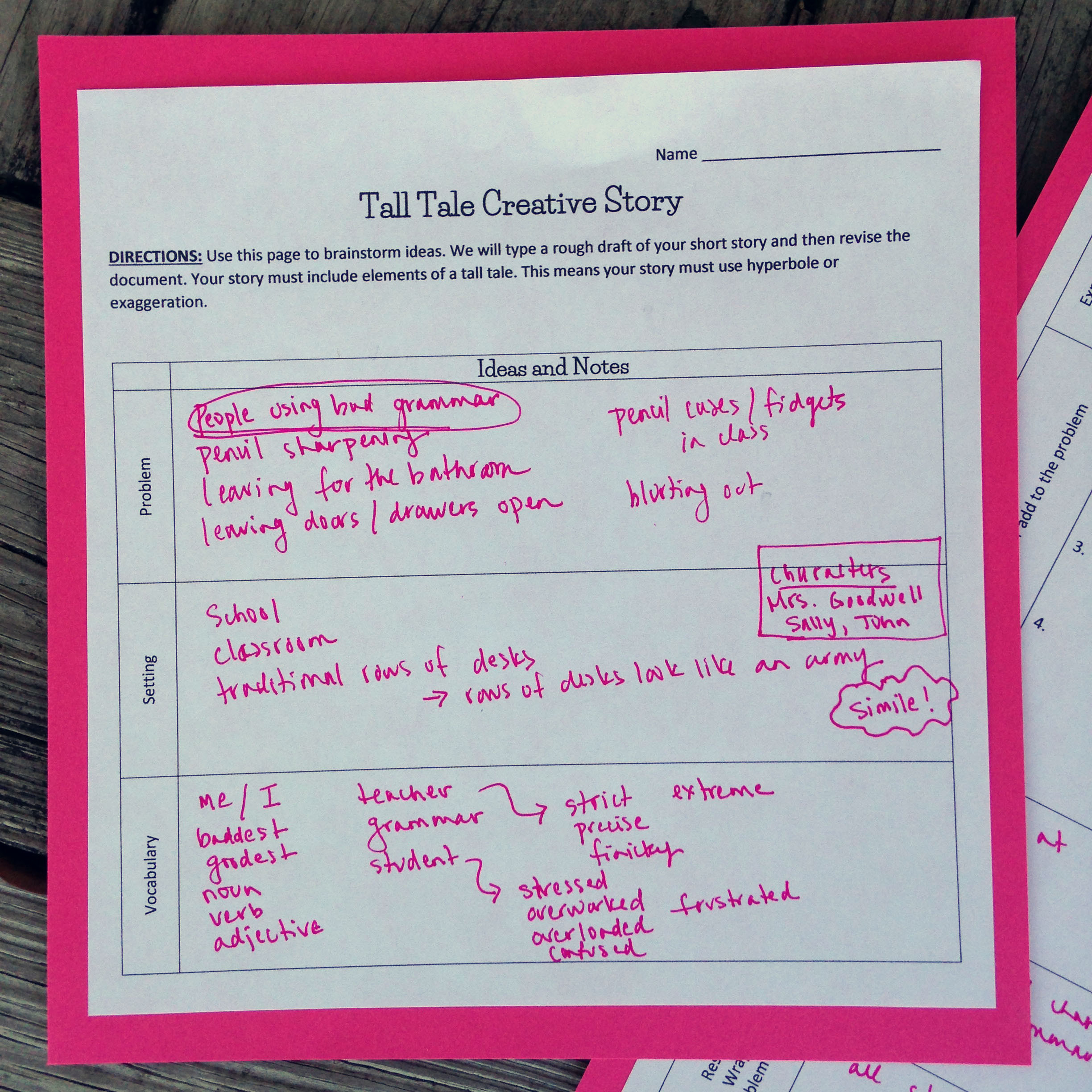 Tall Tale Reading Comprehension Worksheets Writing Tall Tale Short Stories