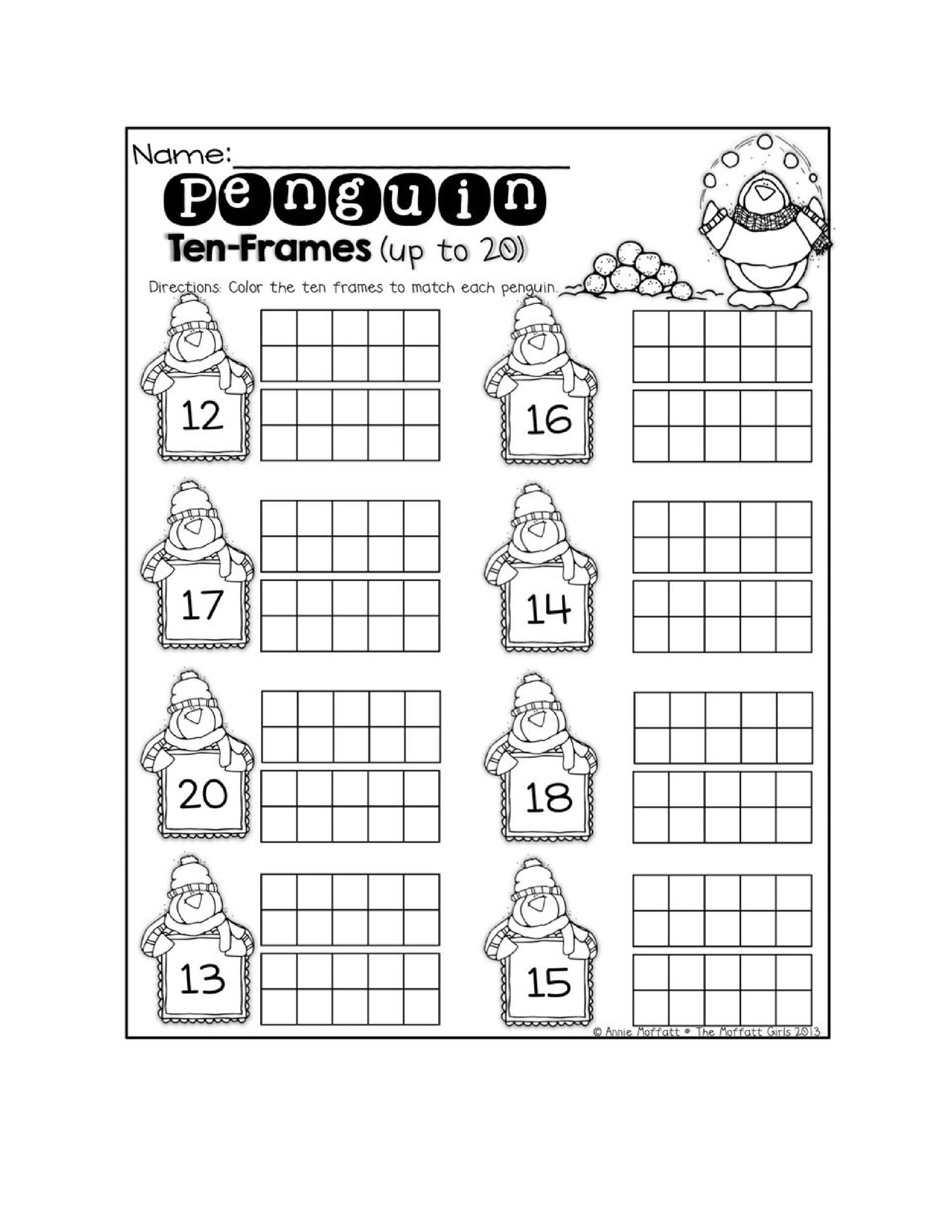 Ten Frame Worksheets First Grade 36 Printable Ten Frame Templates Free Templatelab