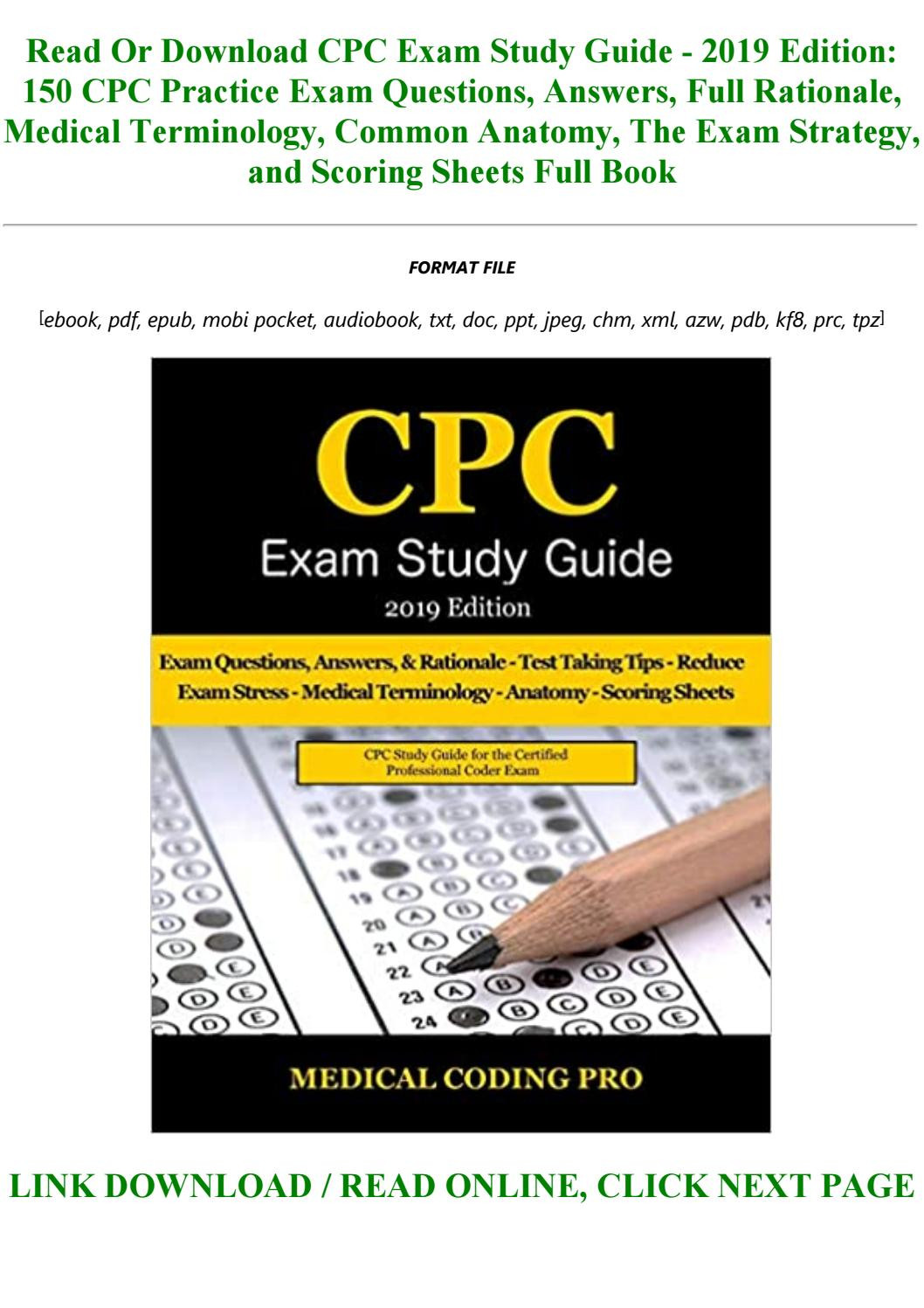 Test Taking Skills Worksheets Download Pdf Download Cpc Exam Study Guide 2019 Edition 150 Cpc