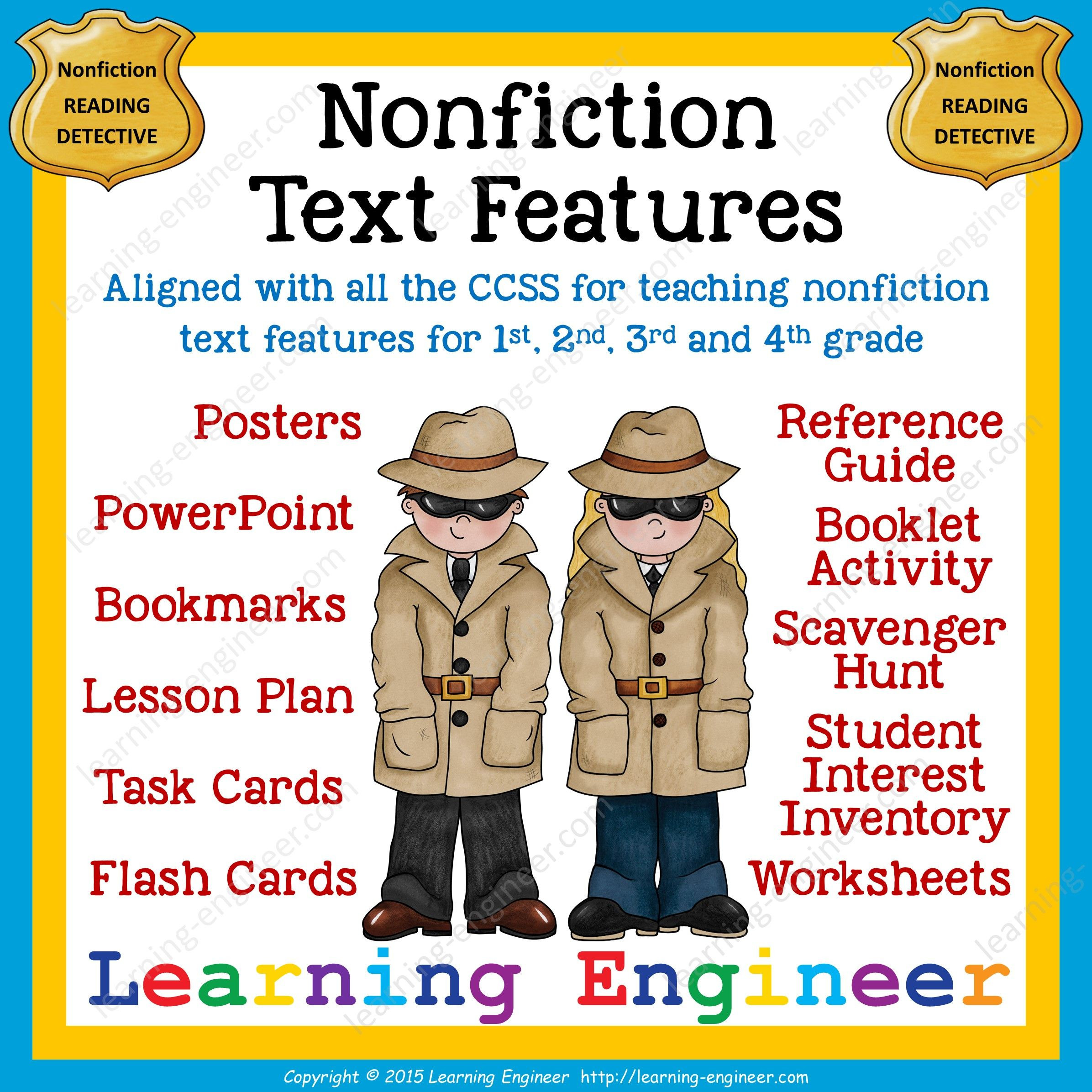 Text Features Worksheet 4th Grade Nonfiction Text Features From Learning Engineer