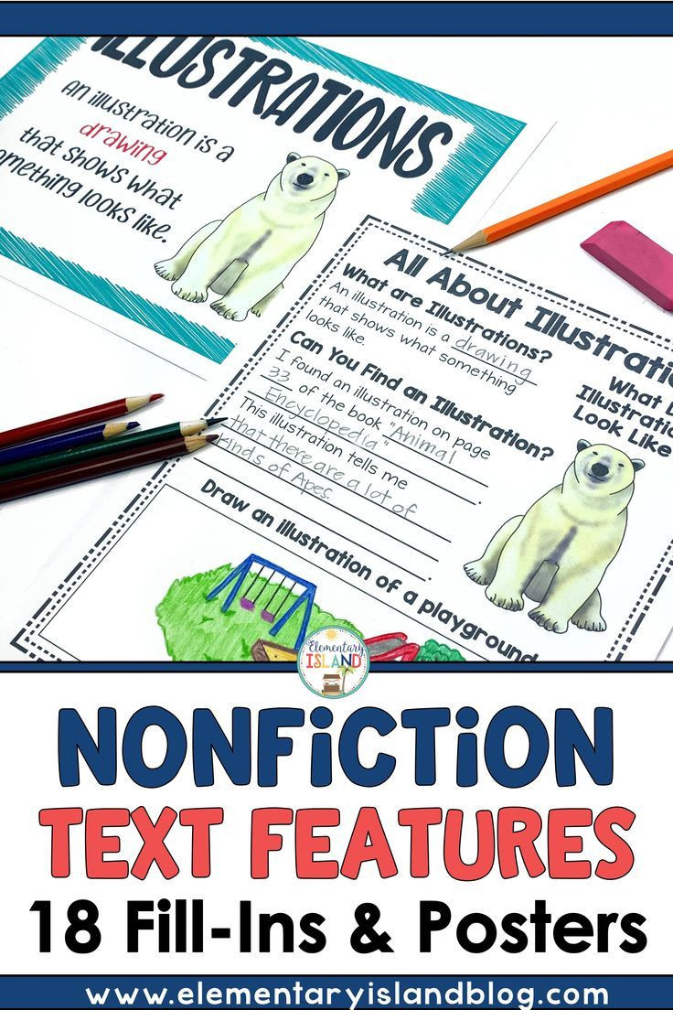 Text Features Worksheet 4th Grade Nonfiction Text Features Worksheets and Posters In 2020