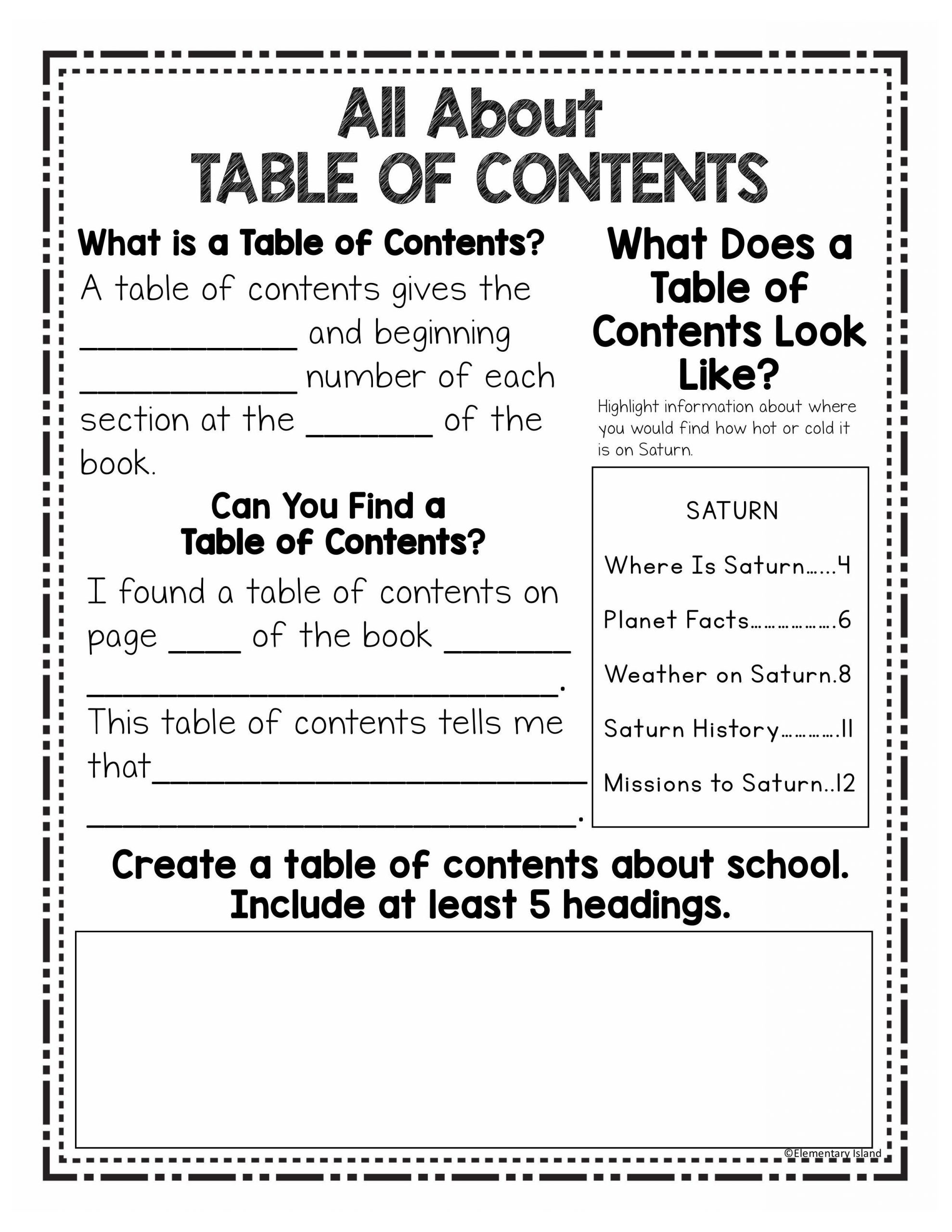 Text Features Worksheets 2nd Grade Using Text Features Worksheet