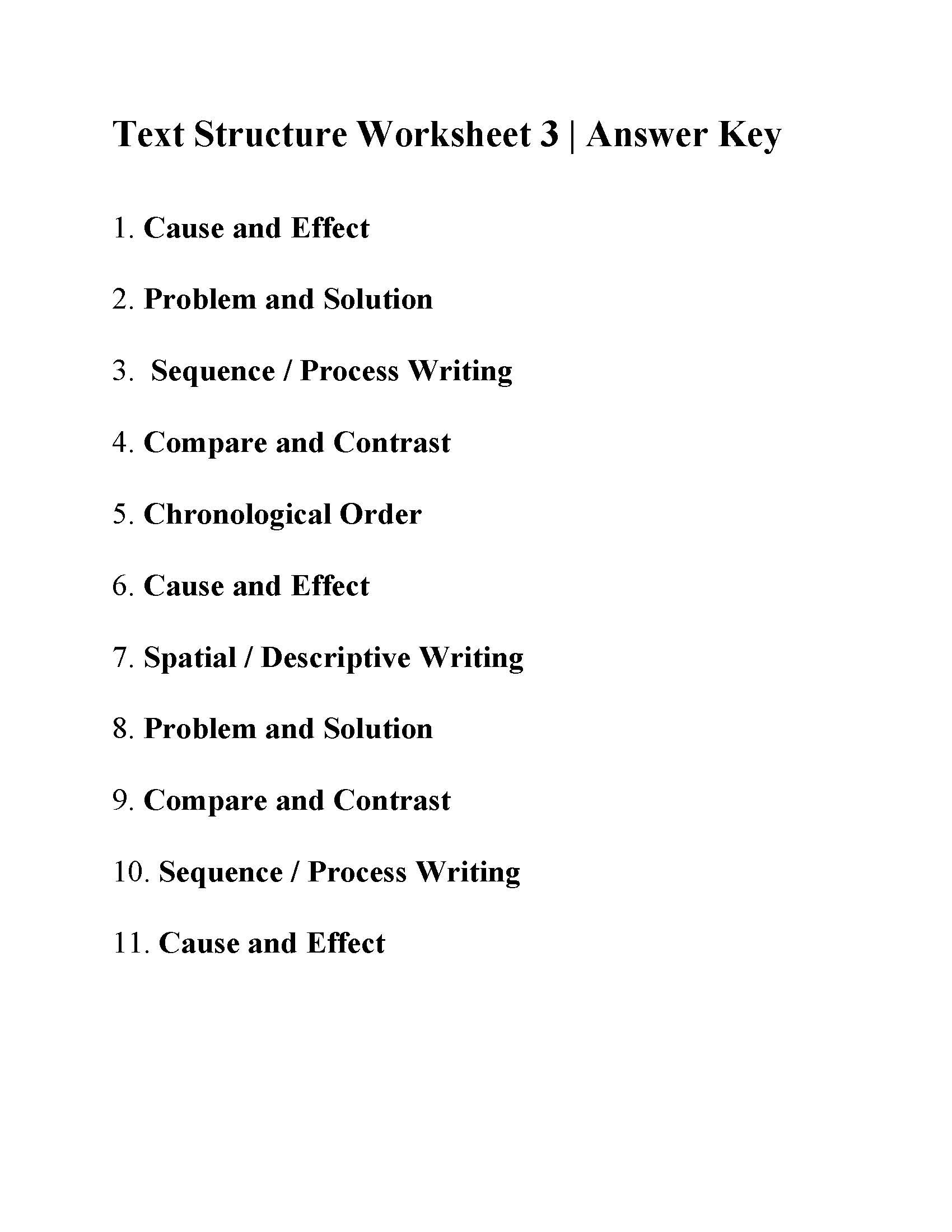 Text Structure 3rd Grade Worksheets Text Structure Worksheet 3