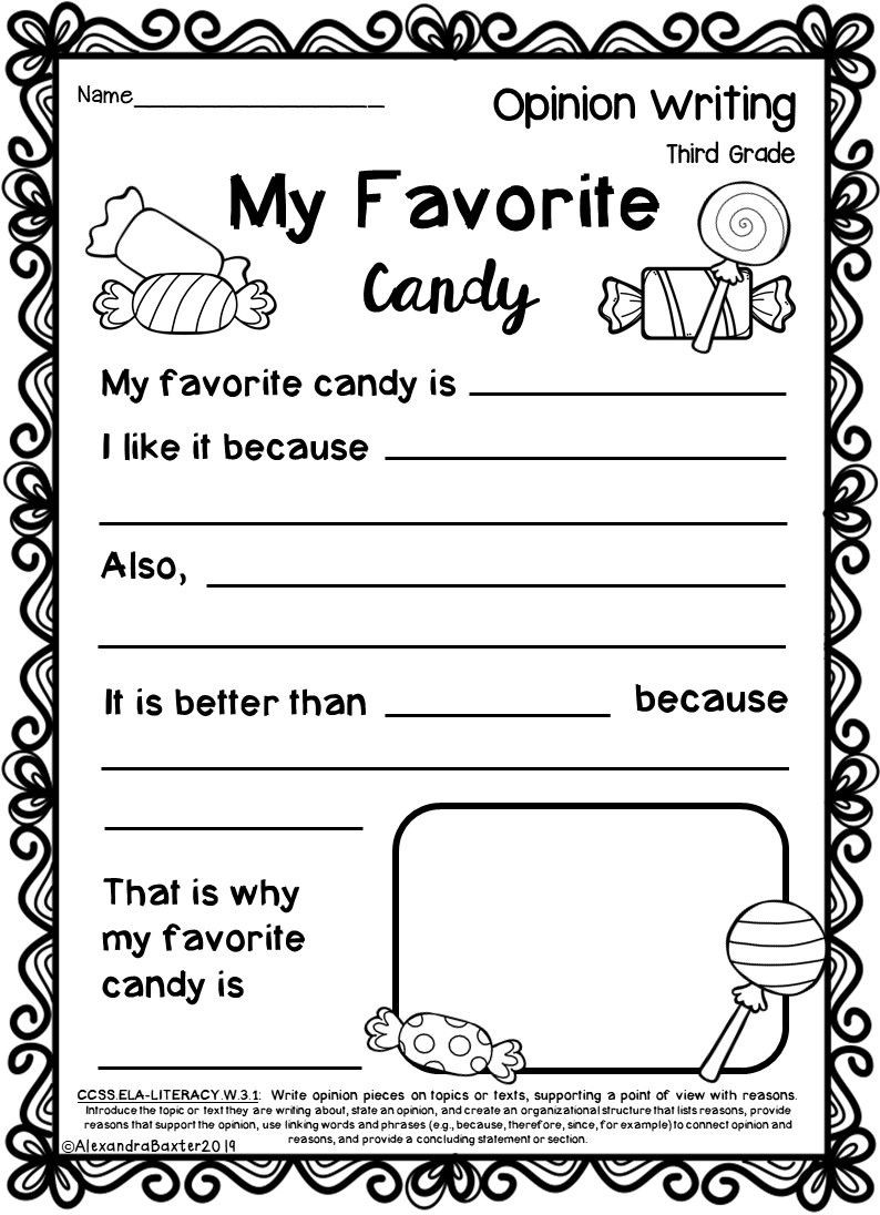 Text Structure 3rd Grade Worksheets Third Grade Opinion Writing Prompts Worksheets with Images