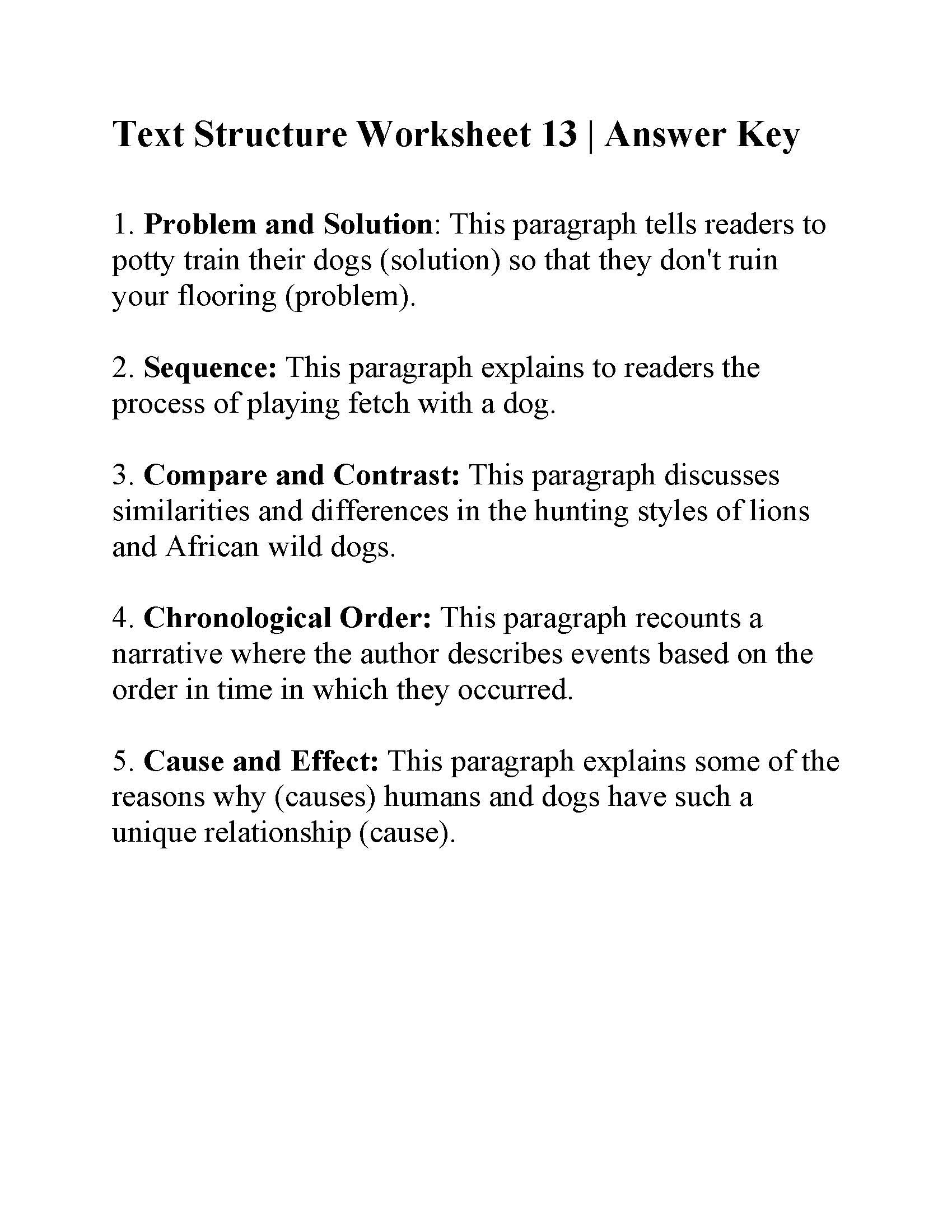 Text Structure Worksheets 3rd Grade Text Structure Worksheet Answers Worksheets Matematik Games