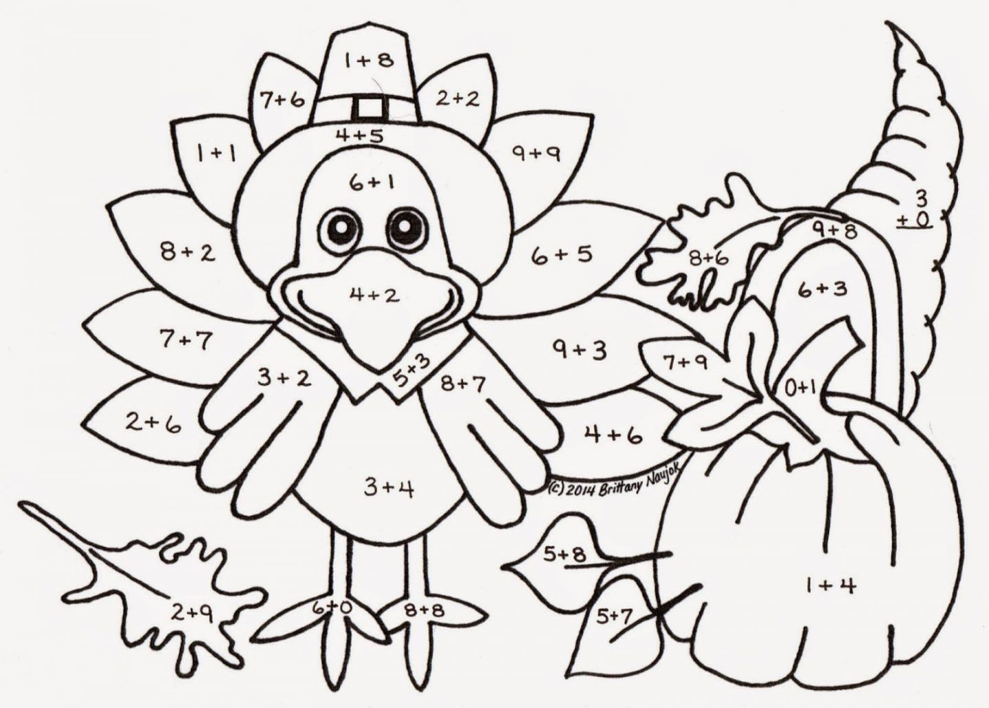 Thanksgiving Math Coloring Worksheets Image Result for Color by Number Thanksgiving Math