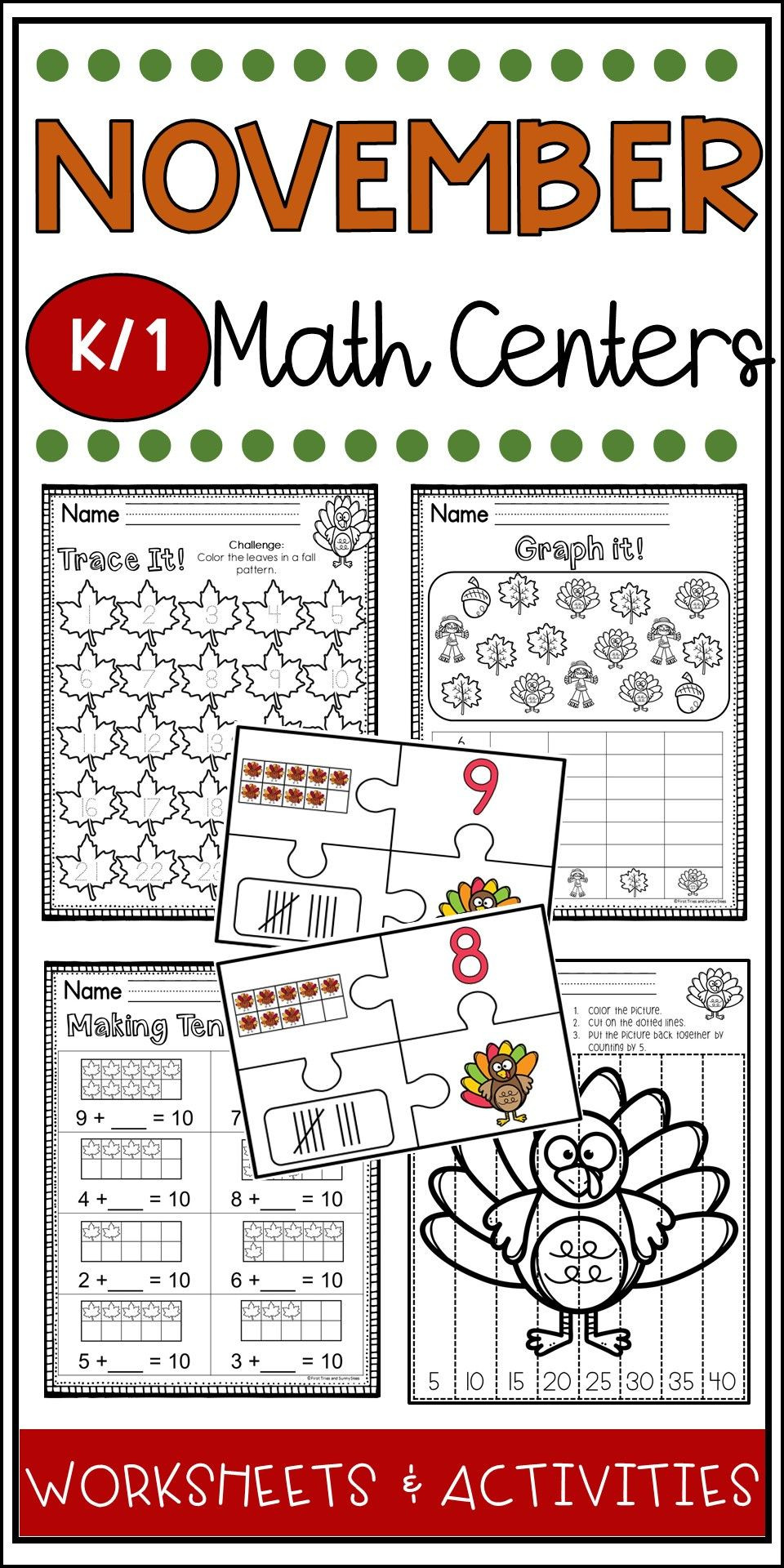 Thanksgiving Math Worksheets First Grade November Math Worksheets Thanksgiving Math Kindergarten