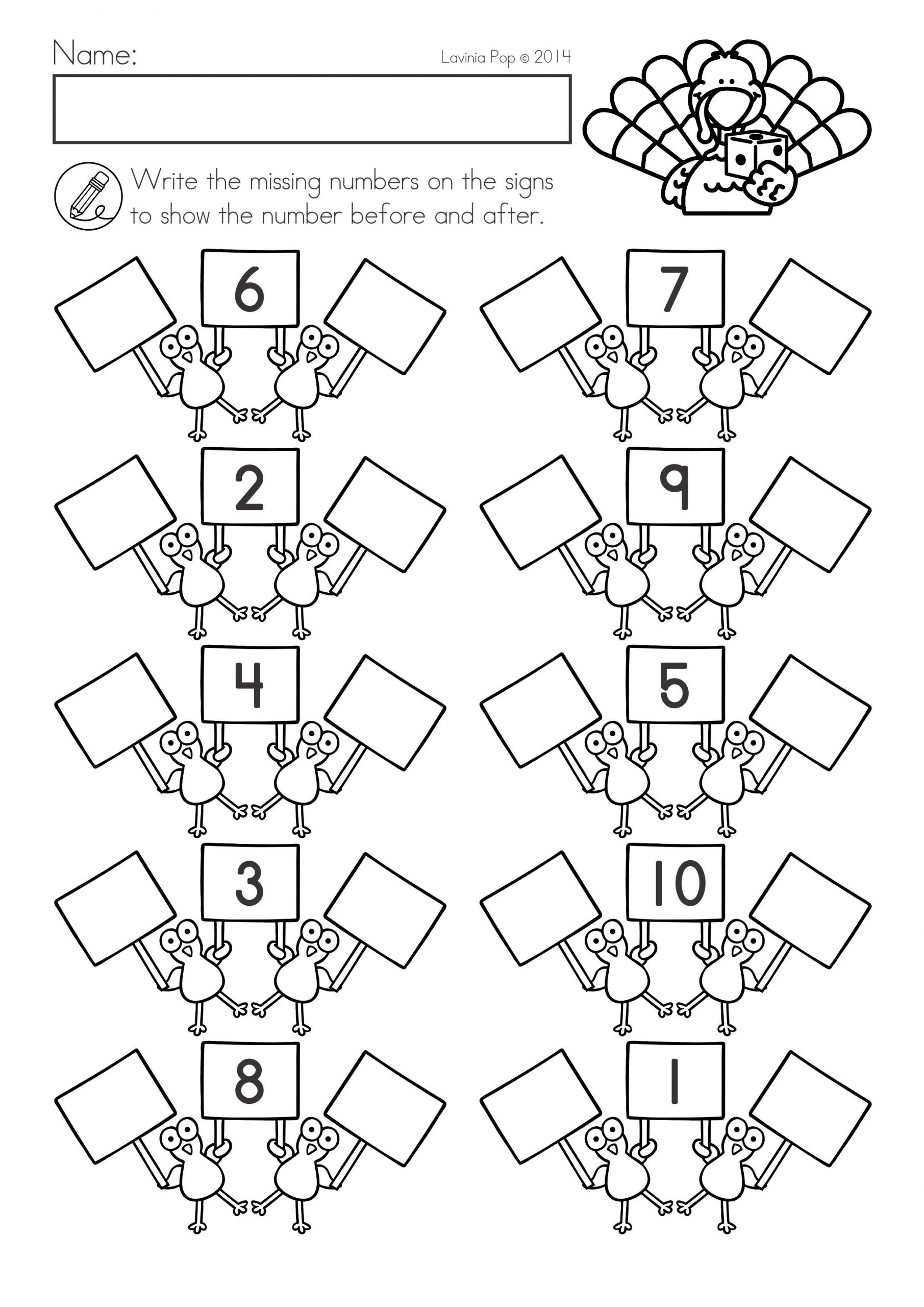 Thanksgiving Math Worksheets First Grade Thanksgiving Math & Literacy Worksheets and Activities