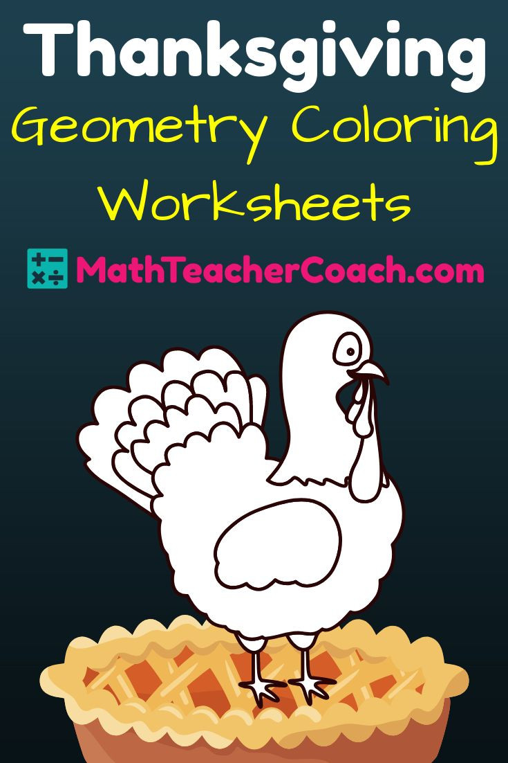 Thanksgiving Worksheets for Middle School Free Thanksgiving Worksheet for Geometry ⋆ Geometrycoach