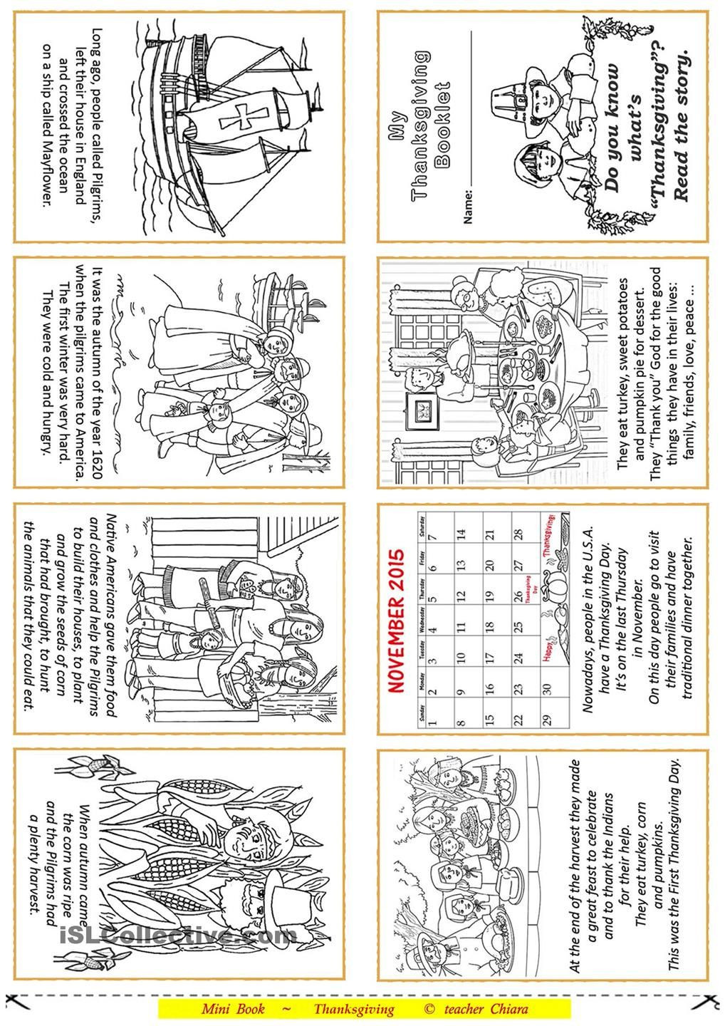 Thanksgiving Worksheets for Middle School Thanksgiving Booklet