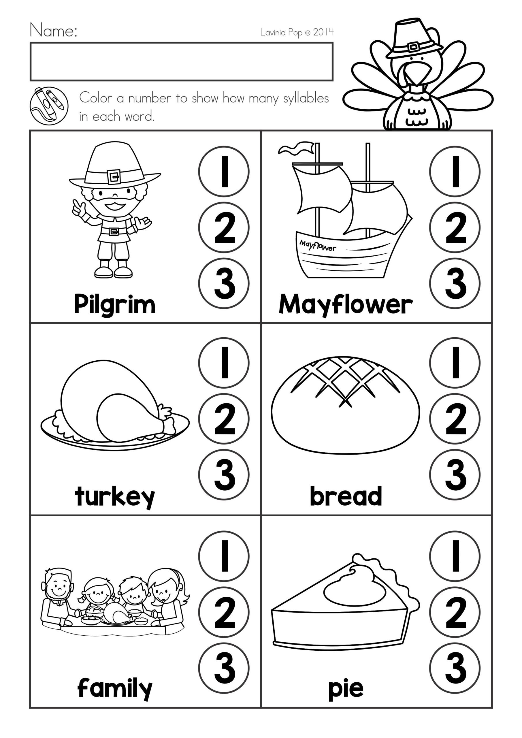 Thanksgiving Worksheets for Middle School Thanksgiving Math Literacy Worksheets and Activities Phonics