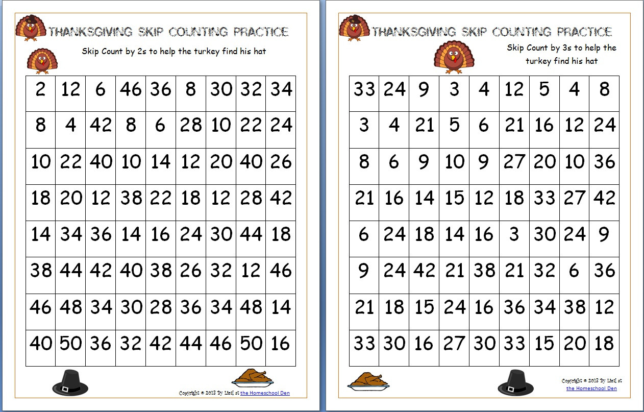 Thanksgiving Worksheets for Middle School Thanksgiving Skip Counting Mazes 2s 3s 5s Free Homeschool