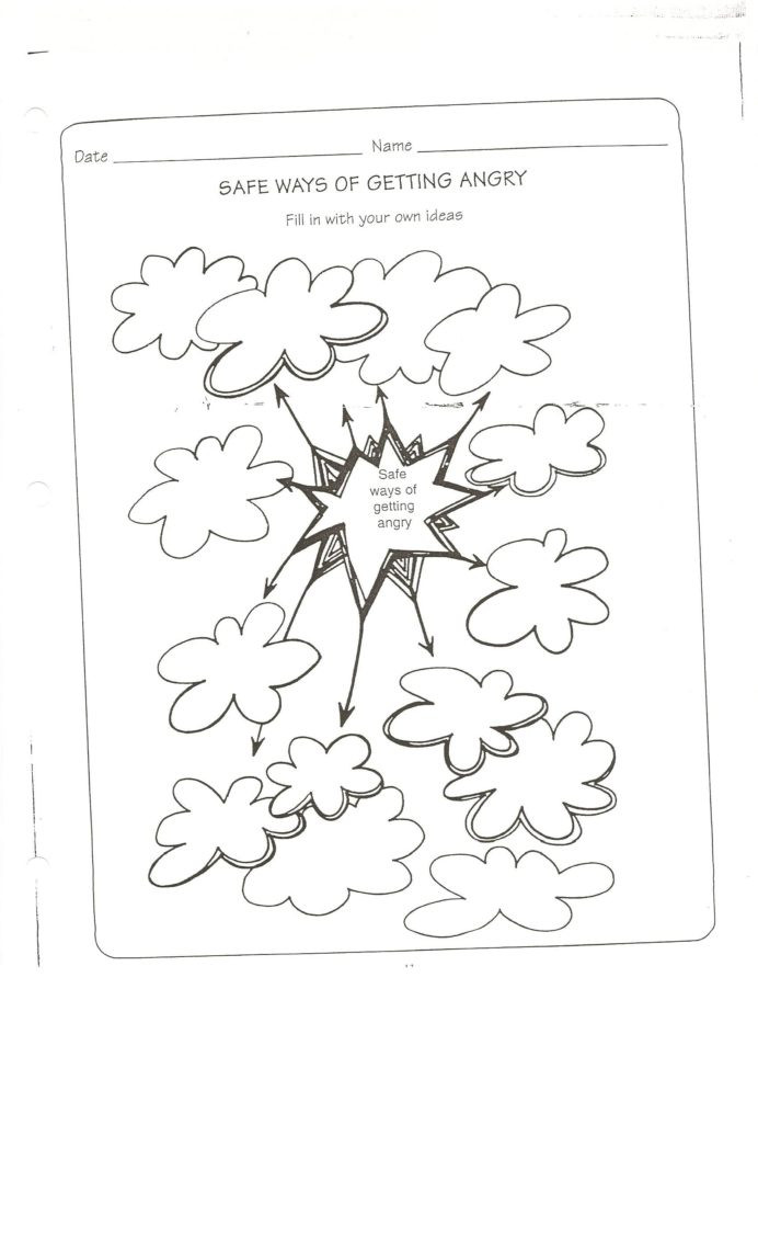 Theme Worksheets Middle School Safe Way to Get Angry Worksheet Conflict Resolution Safety