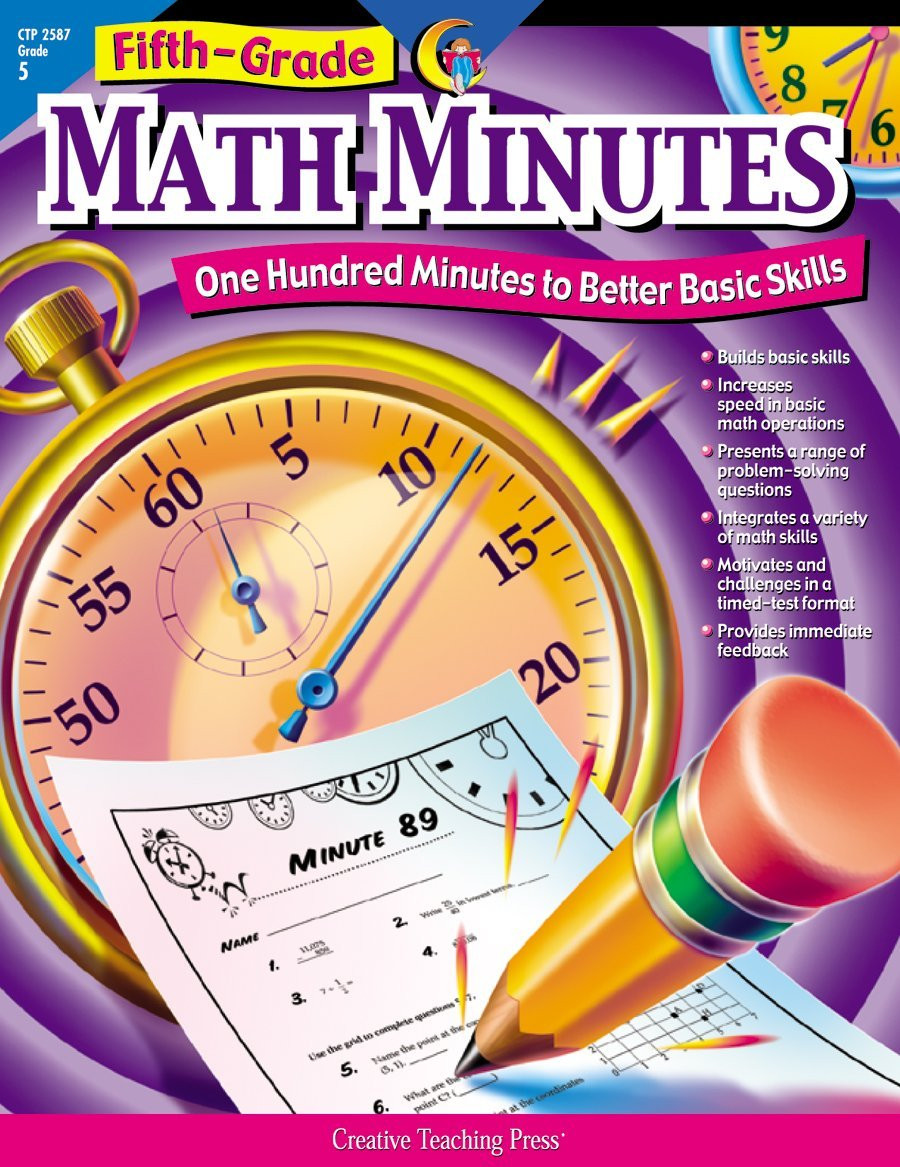 Third Grade Math Minutes Pdf Amazon Creative Teaching Math Minutes 5th Grade