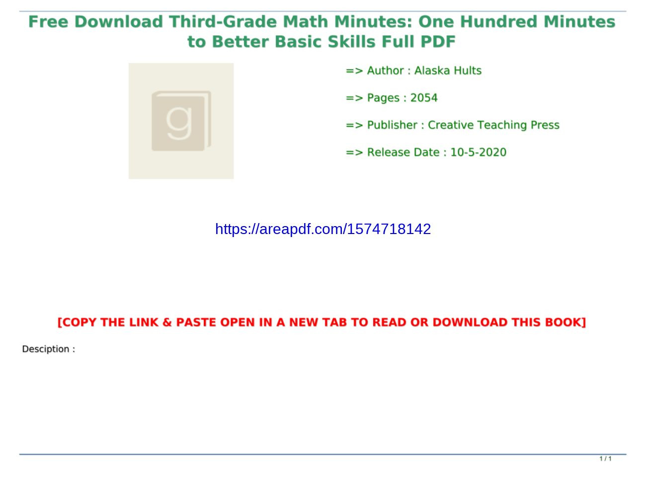 Third Grade Math Minutes Pdf Free Download Third Grade Math Minutes E Hundred Minutes