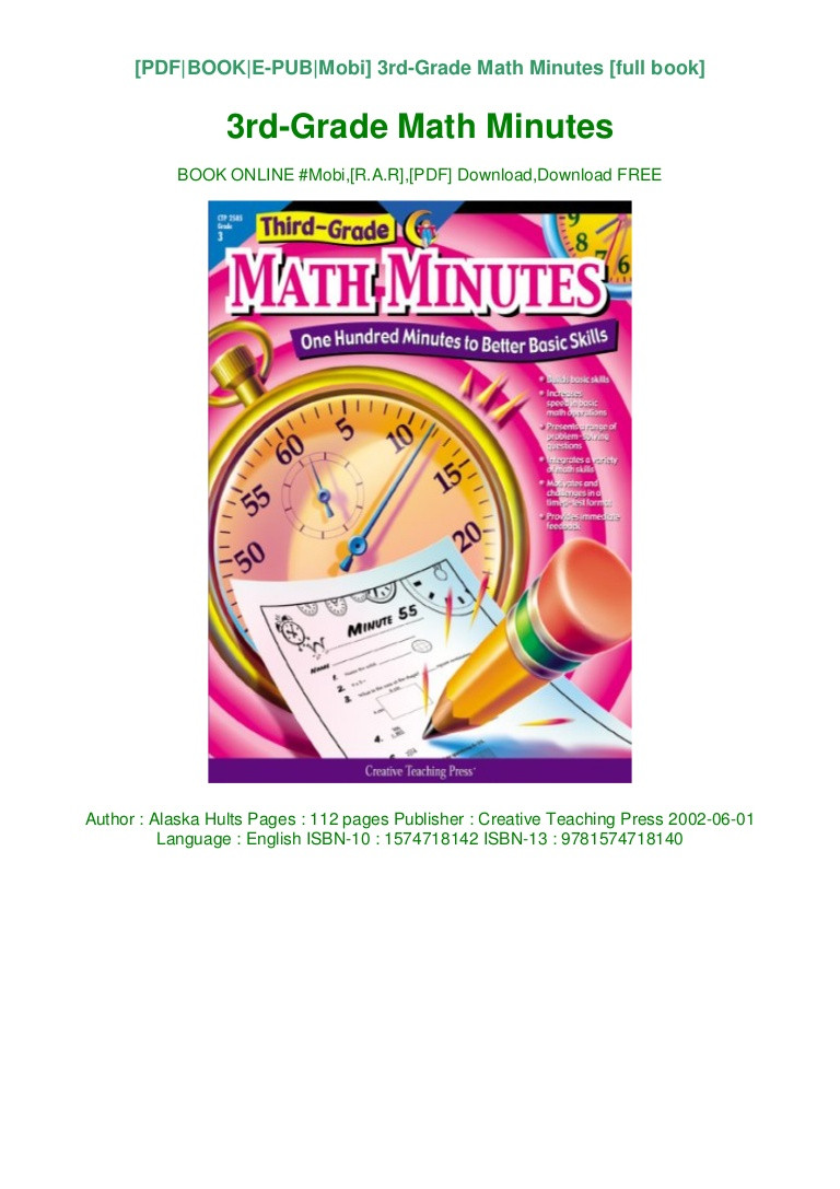 Third Grade Math Minutes Pdf Free Line Books for 3rd Graders
