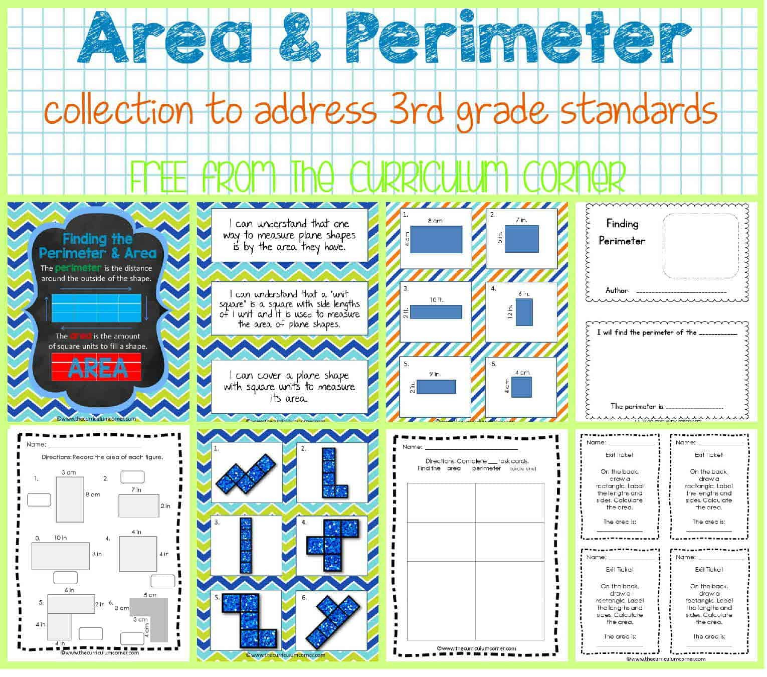 Third Grade Perimeter Worksheets area & Perimeter the Curriculum Corner 123