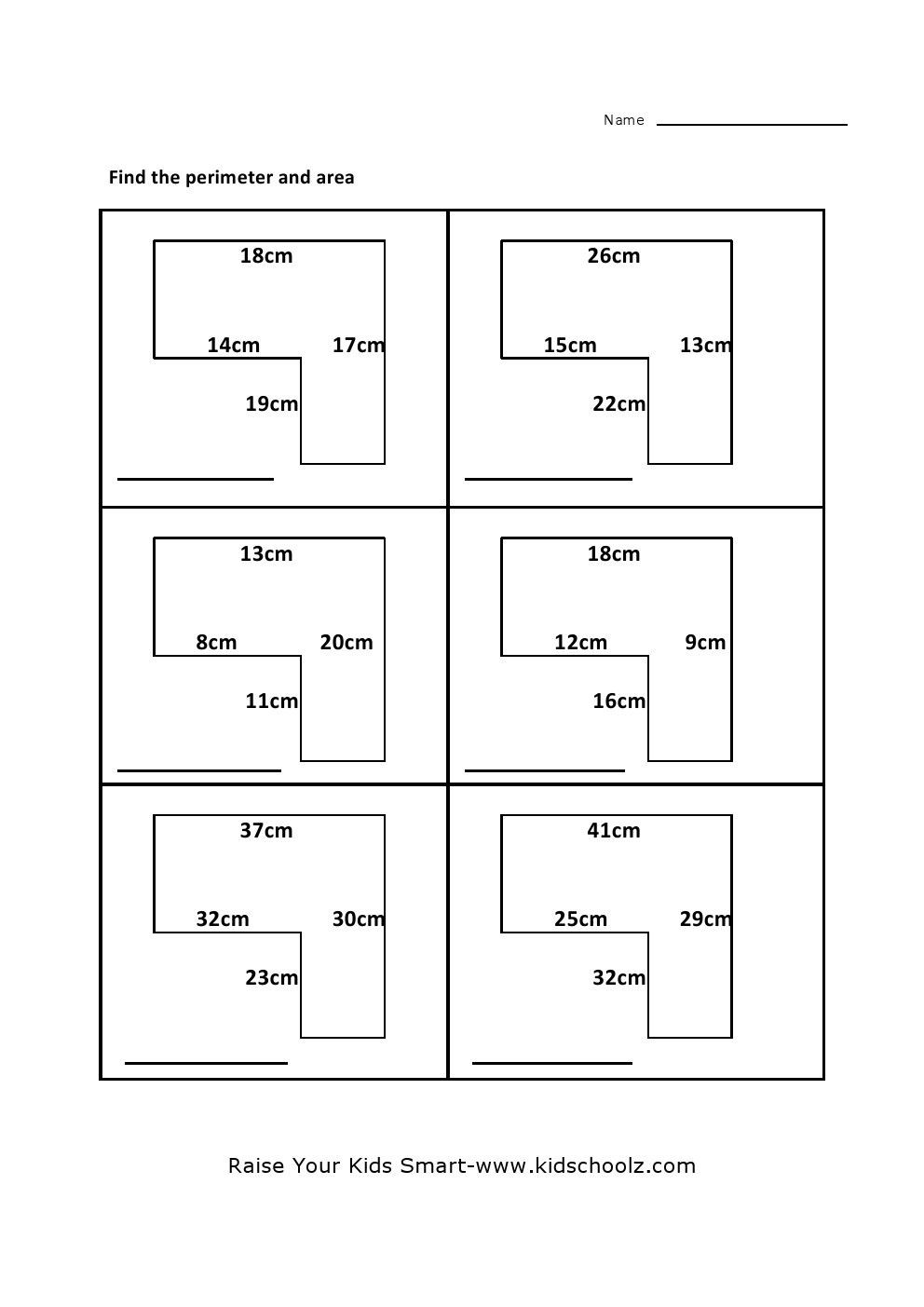Third Grade Perimeter Worksheets Free Printable area and Perimeter Worksheets