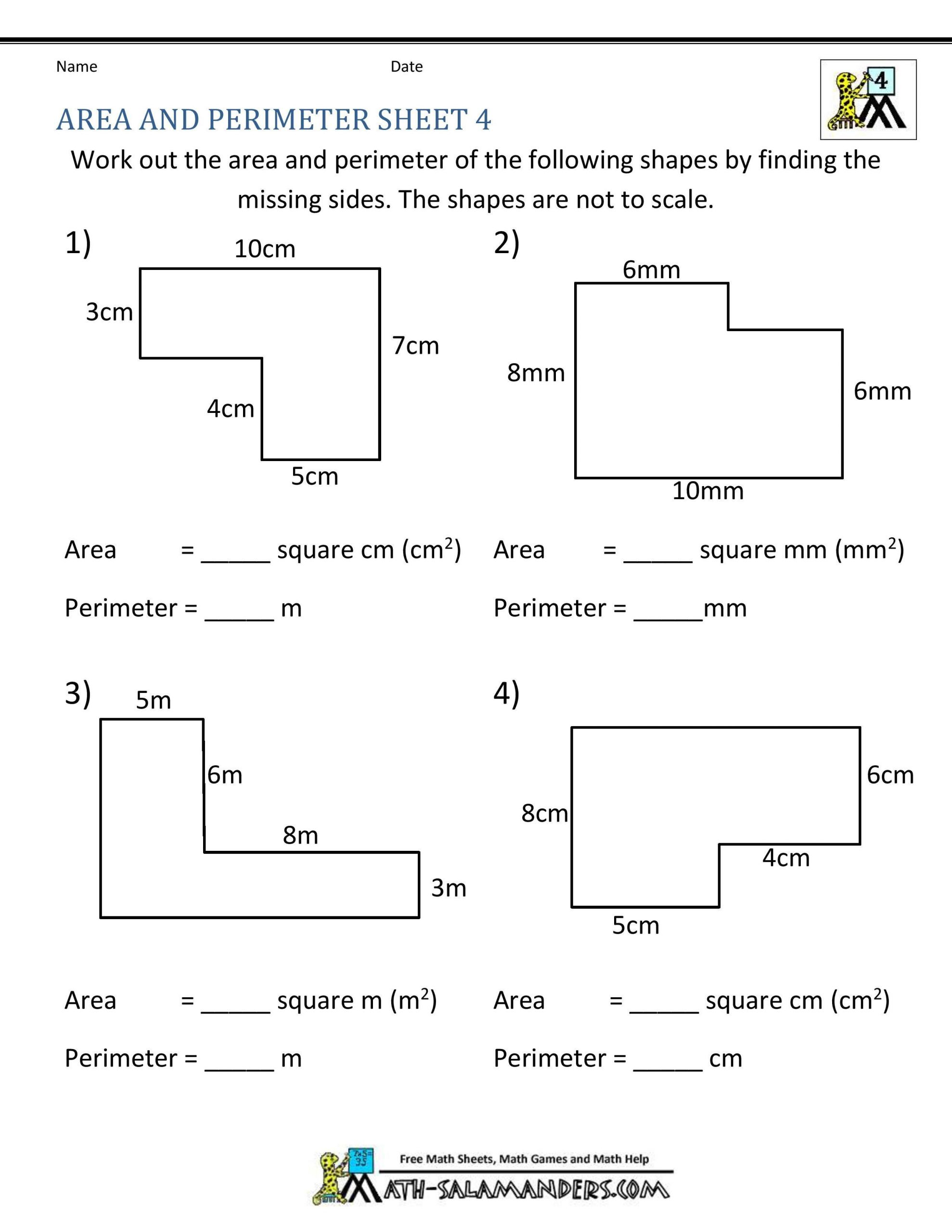 Third Grade Perimeter Worksheets Pin On Educational Worksheets Template