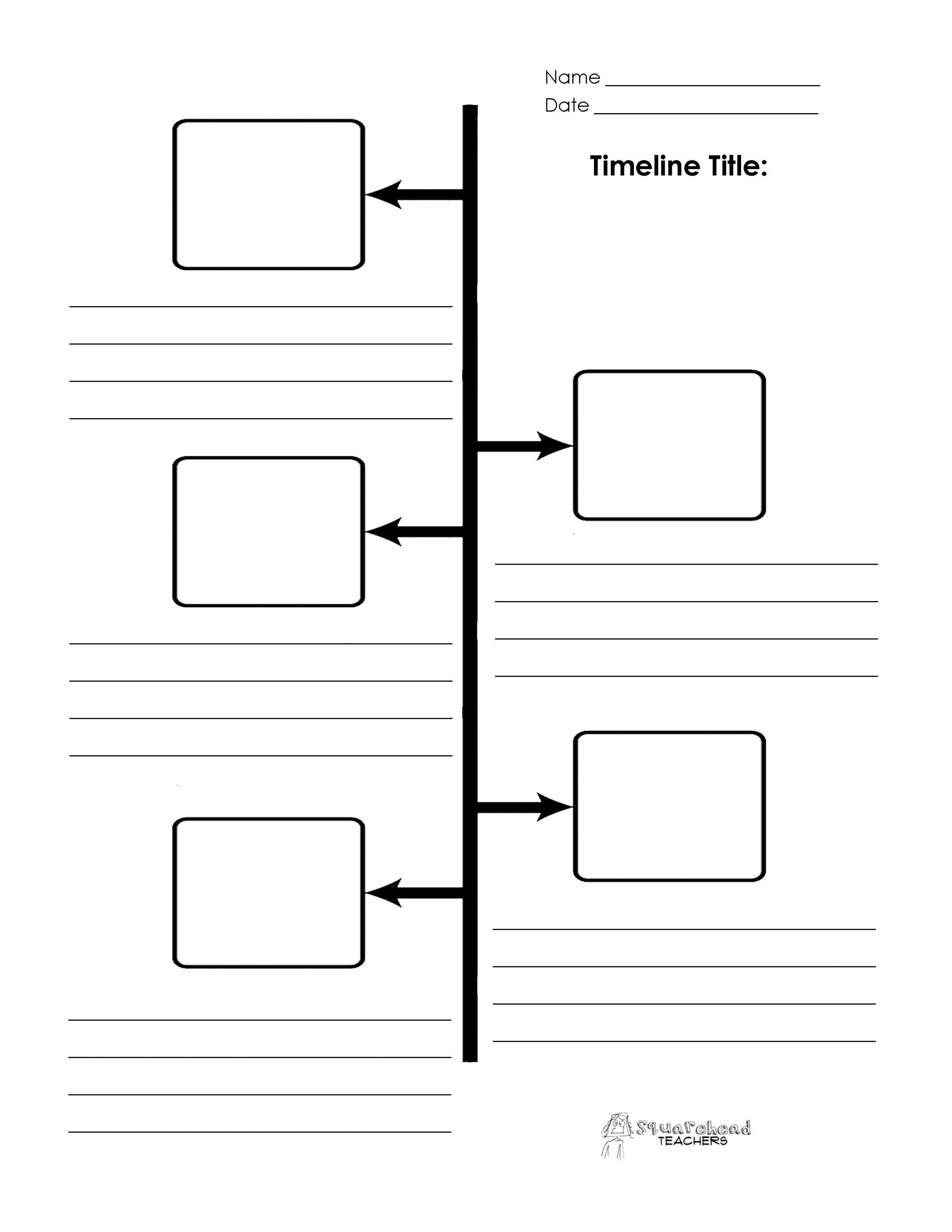 Timeline Worksheets for Middle School Blank Timeline Printables