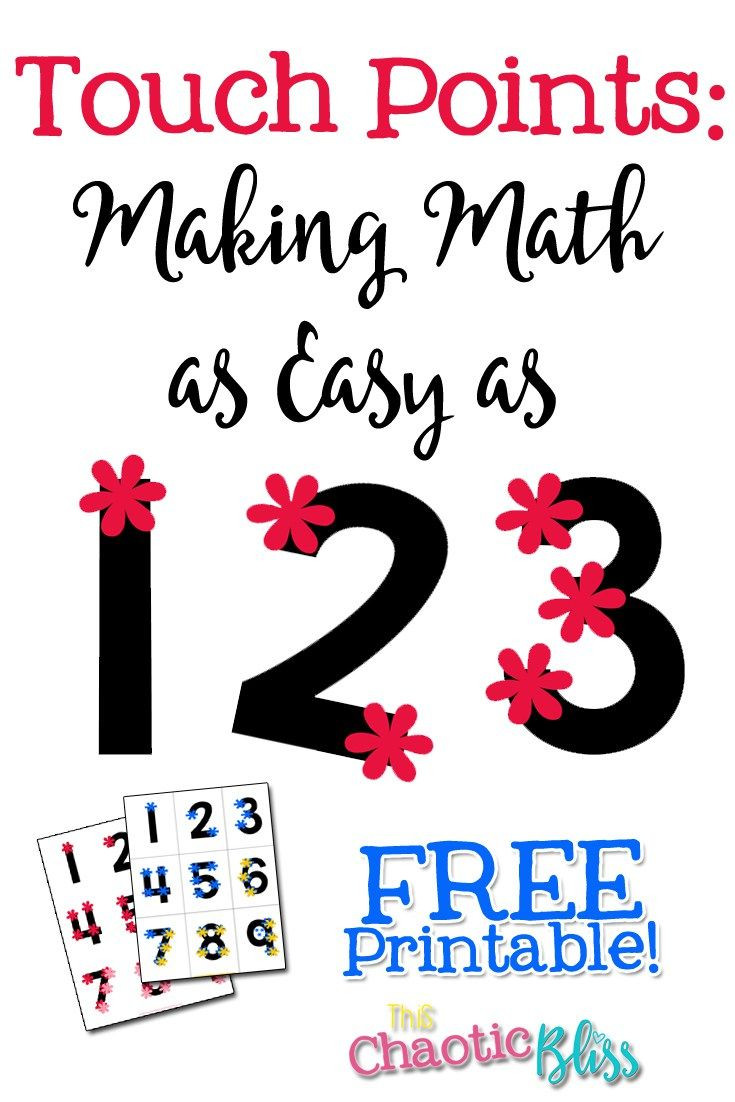 Touch Math Addition Worksheets touch Points Making Math as Easy as 1 2 3 Free Printable