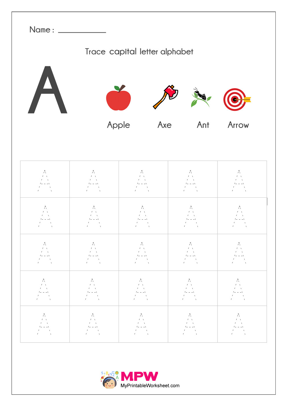 Touch Math Subtraction Worksheets Alphabet Tracing Worksheets Printable English Capital Letter