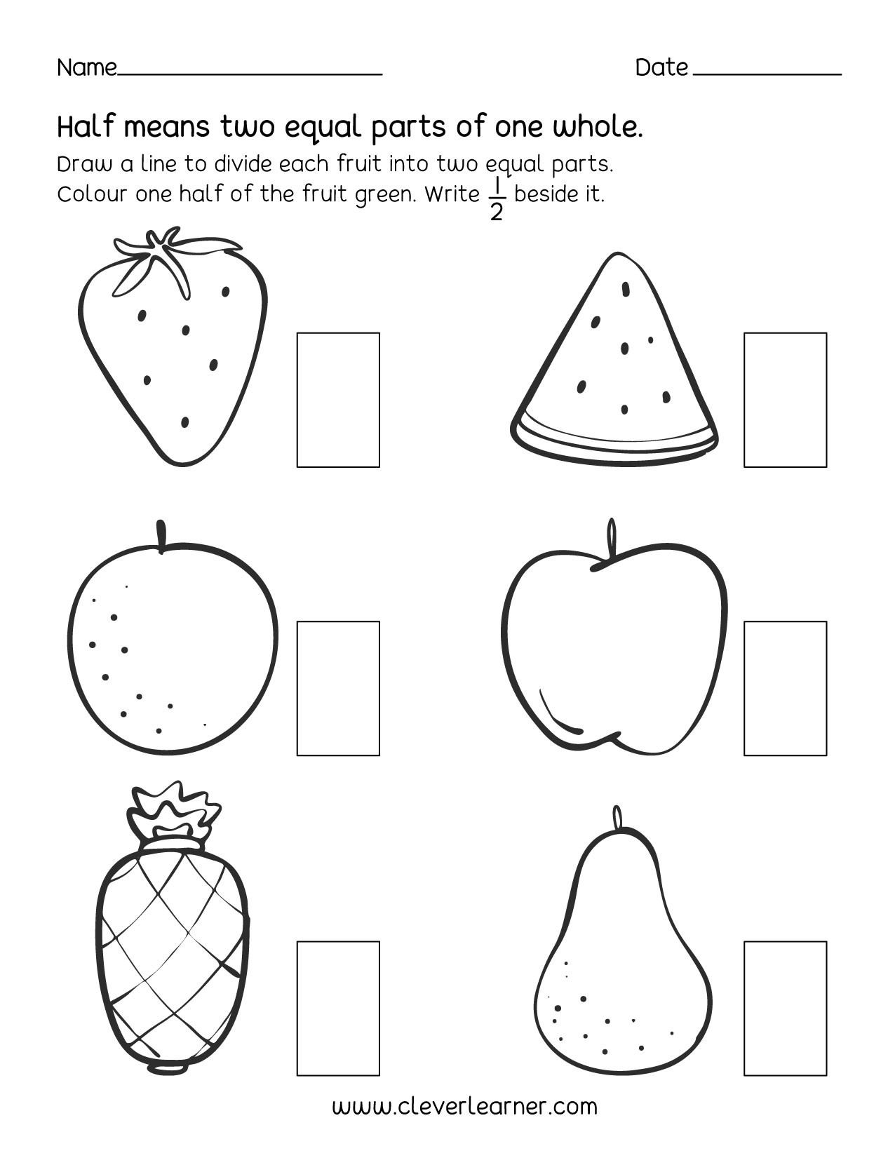 Touch Math Worksheets Generator Fun Activity Fractions Half Worksheets for Children First