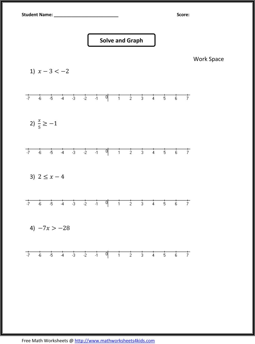 Touch Point Math Worksheets Worksheet 7th Grade Math Worksheets Algebra Barkarintable