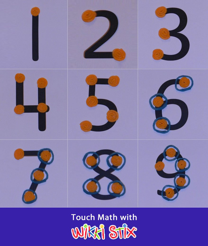 Touch Points Math Worksheets touch Math Using Wikki Stix Manipulatives