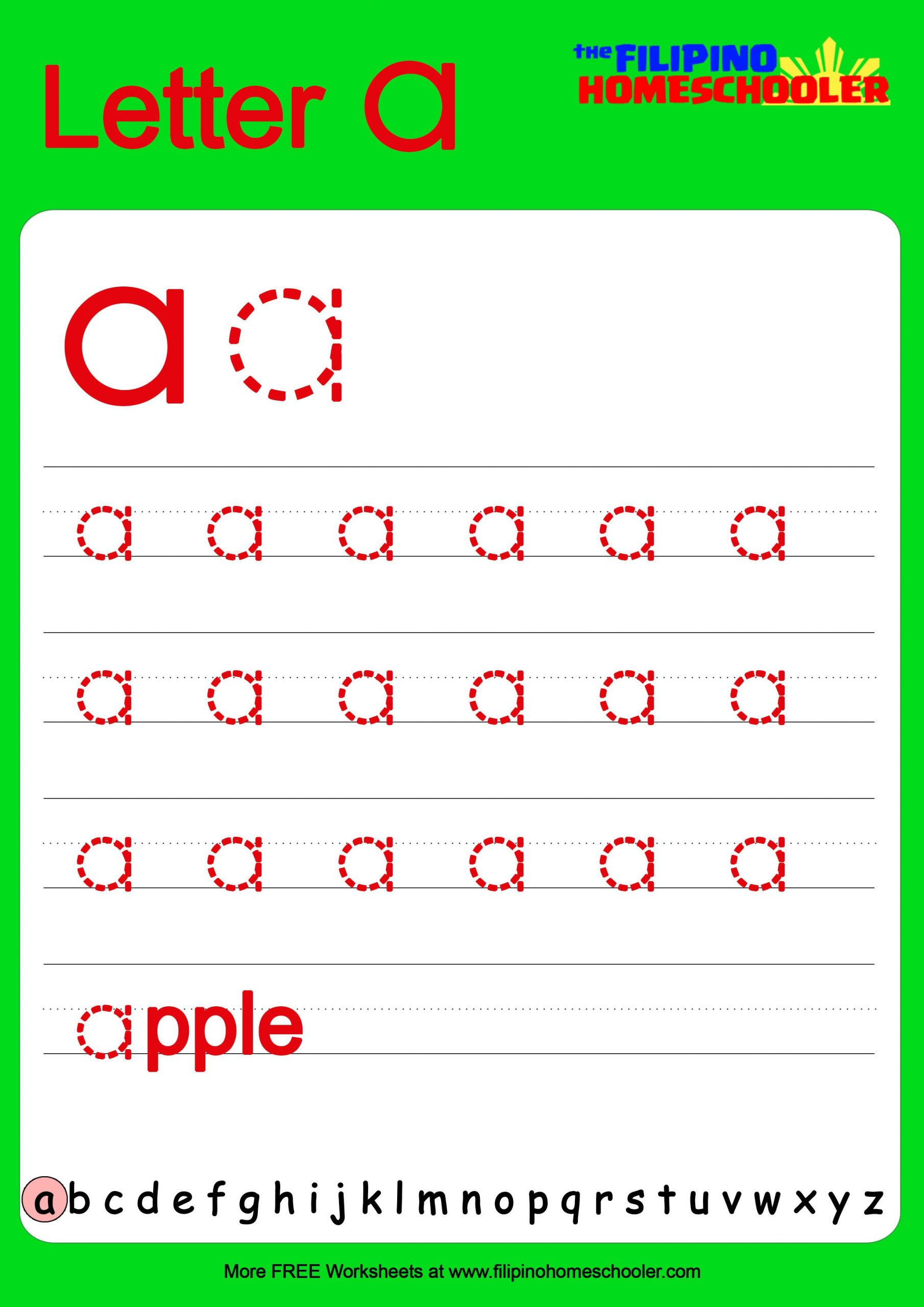 Tracing Lowercase Letters Printable Worksheets Free Lowercase Letter Tracing Worksheets