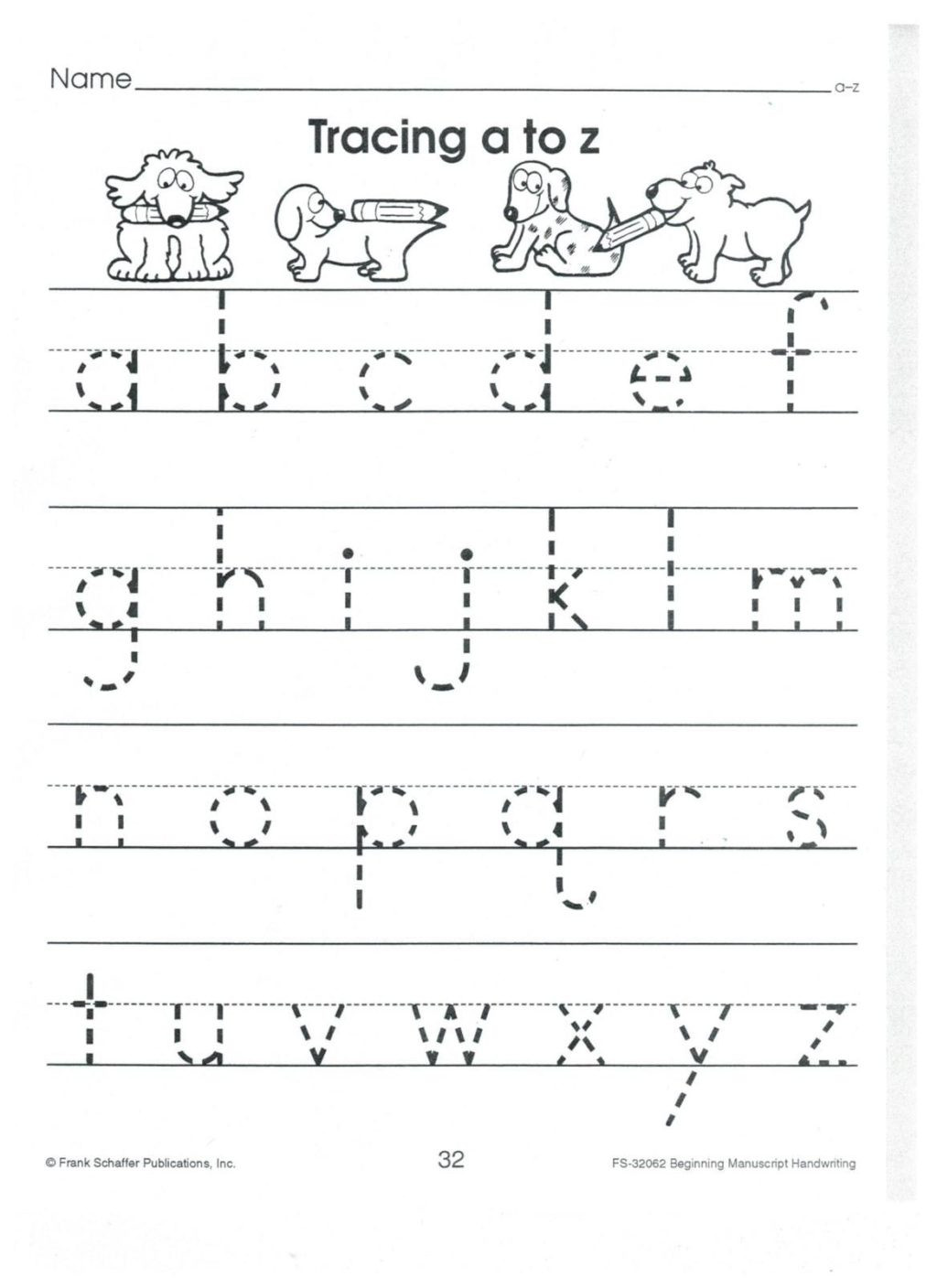 Tracing Lowercase Letters Printable Worksheets Worksheet English Print to Z Lower Case Alphabet Tracing