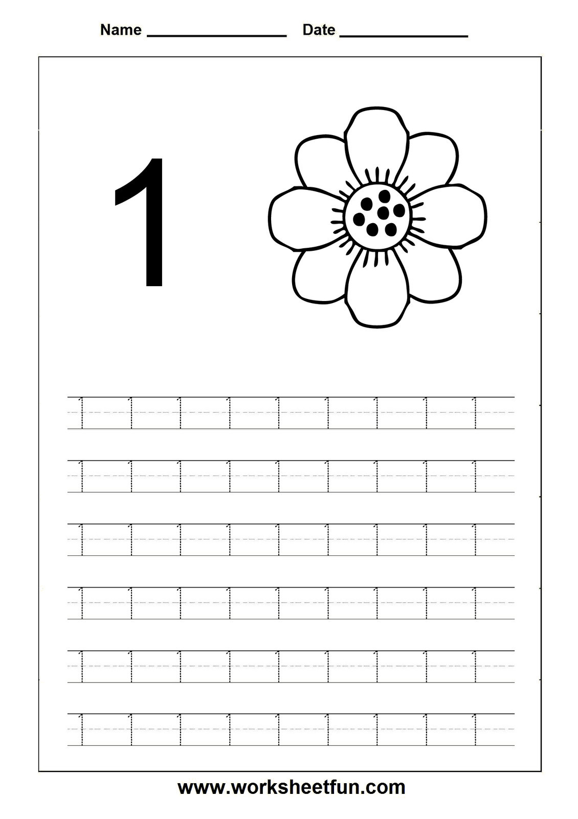 Tracing Numbers 1 20 Printable 4 Worksheet Trace Number 1 20 Worksheet Printable