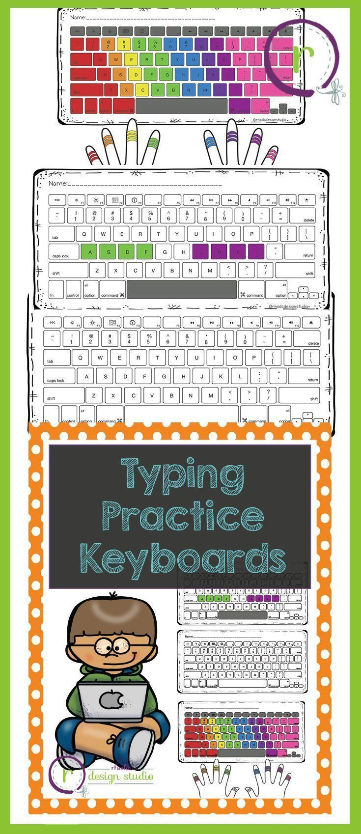 Typing Worksheets Printables Typing Practice Printable Keyboards