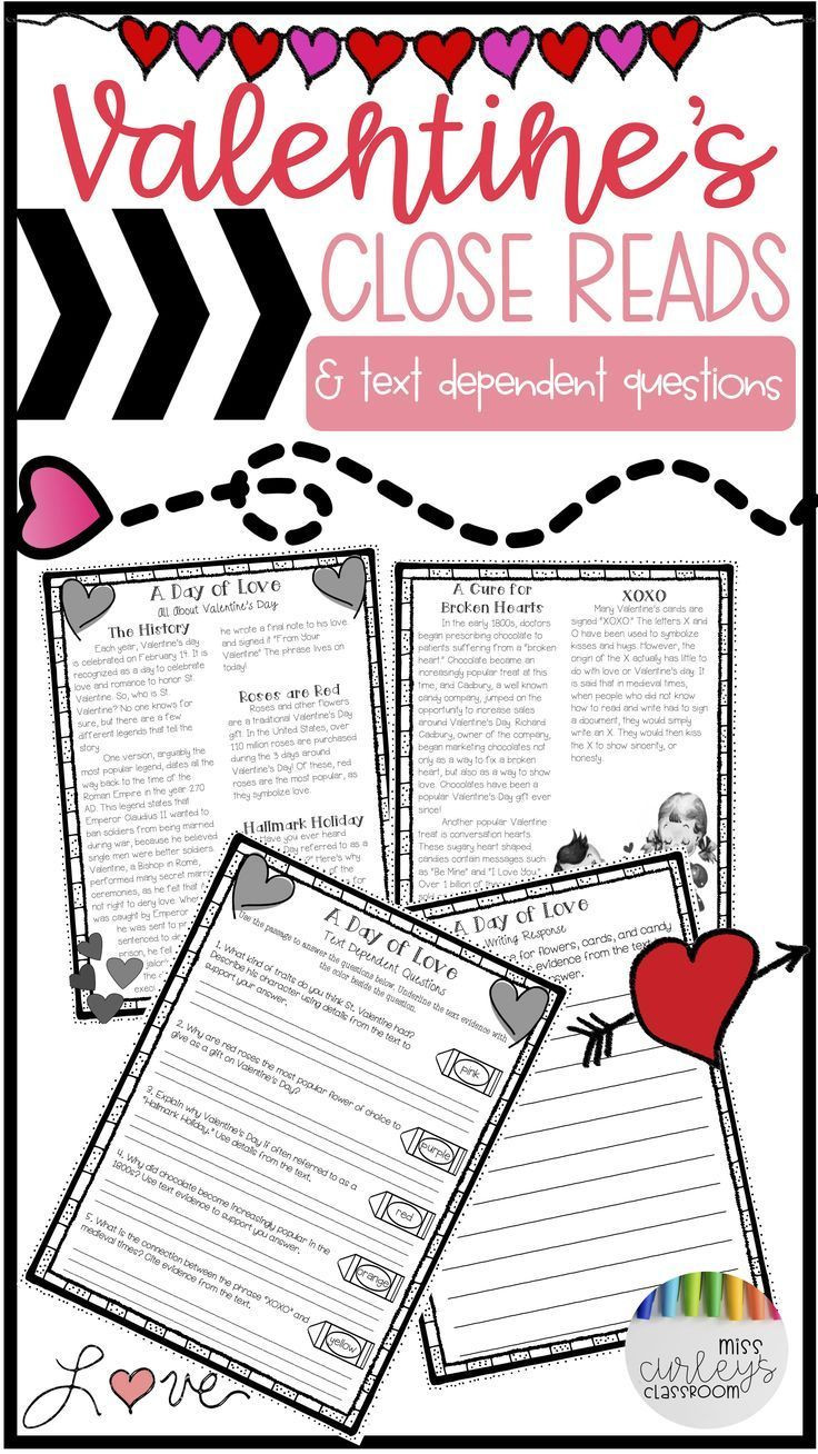Valentine Day Reading Comprehension Worksheets Valentines Day Activities for Kids Valentines Reading