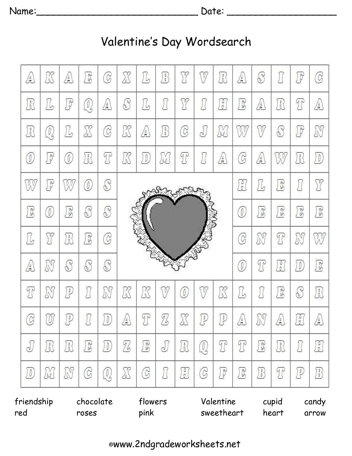 Valentines Day Reading Comprehension Worksheets Valentine S Day Printouts and Worksheets