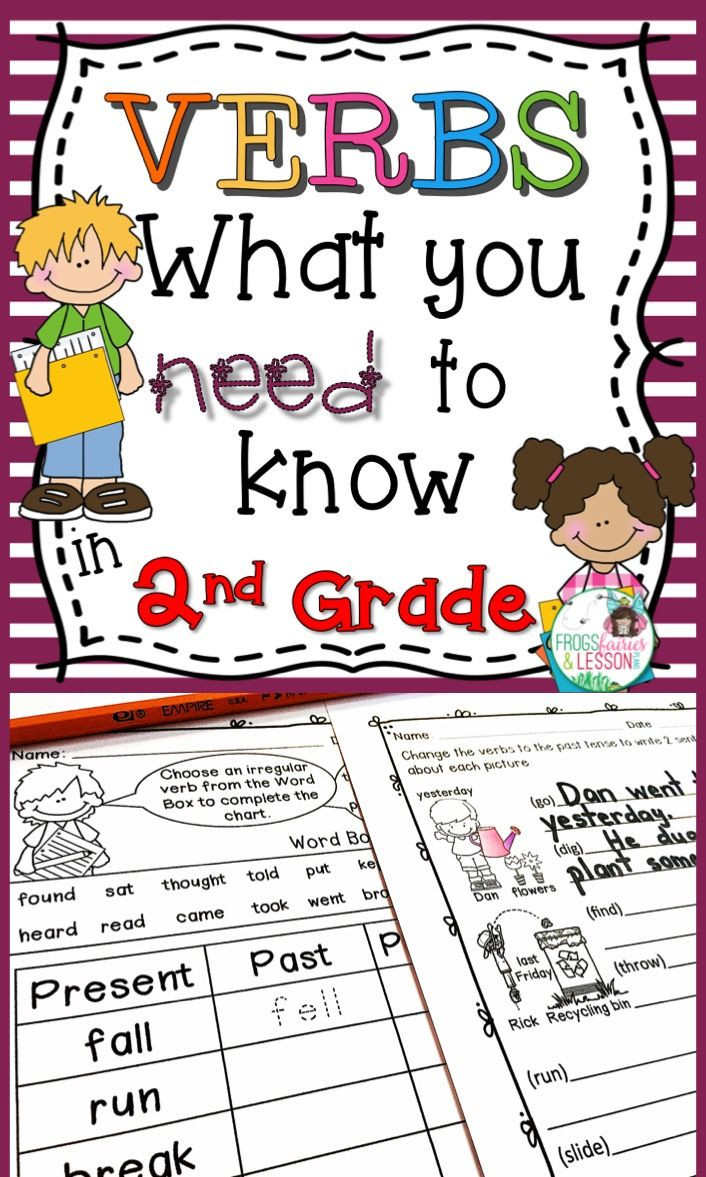 Verb Tense Worksheets 2nd Grade Verbs 2nd Grade