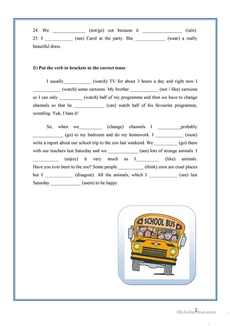Verb Tense Worksheets High School Mixed Verb Tenses