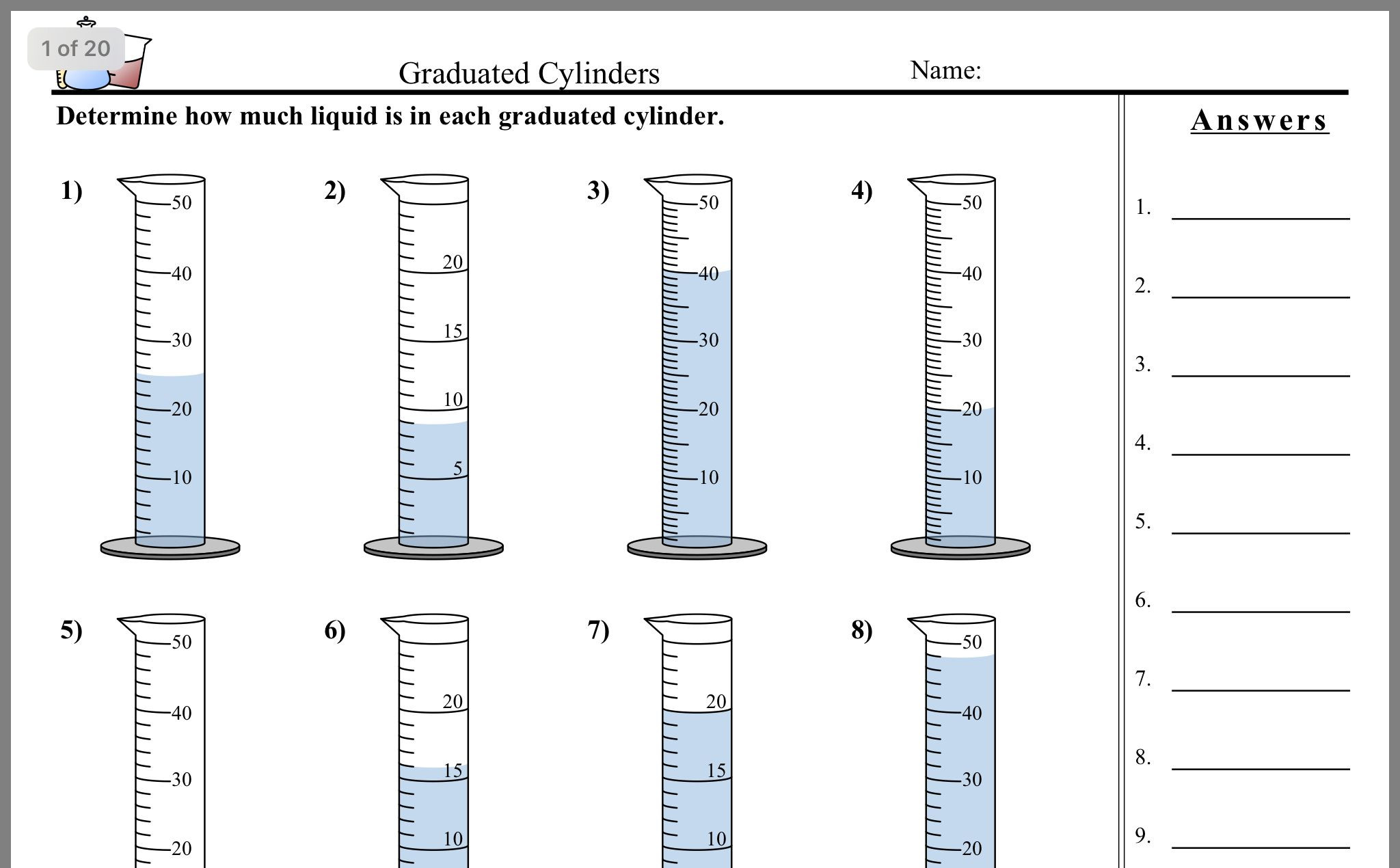Volume Worksheets 3rd Grade Grade 4 Capacity and Volume Worksheets